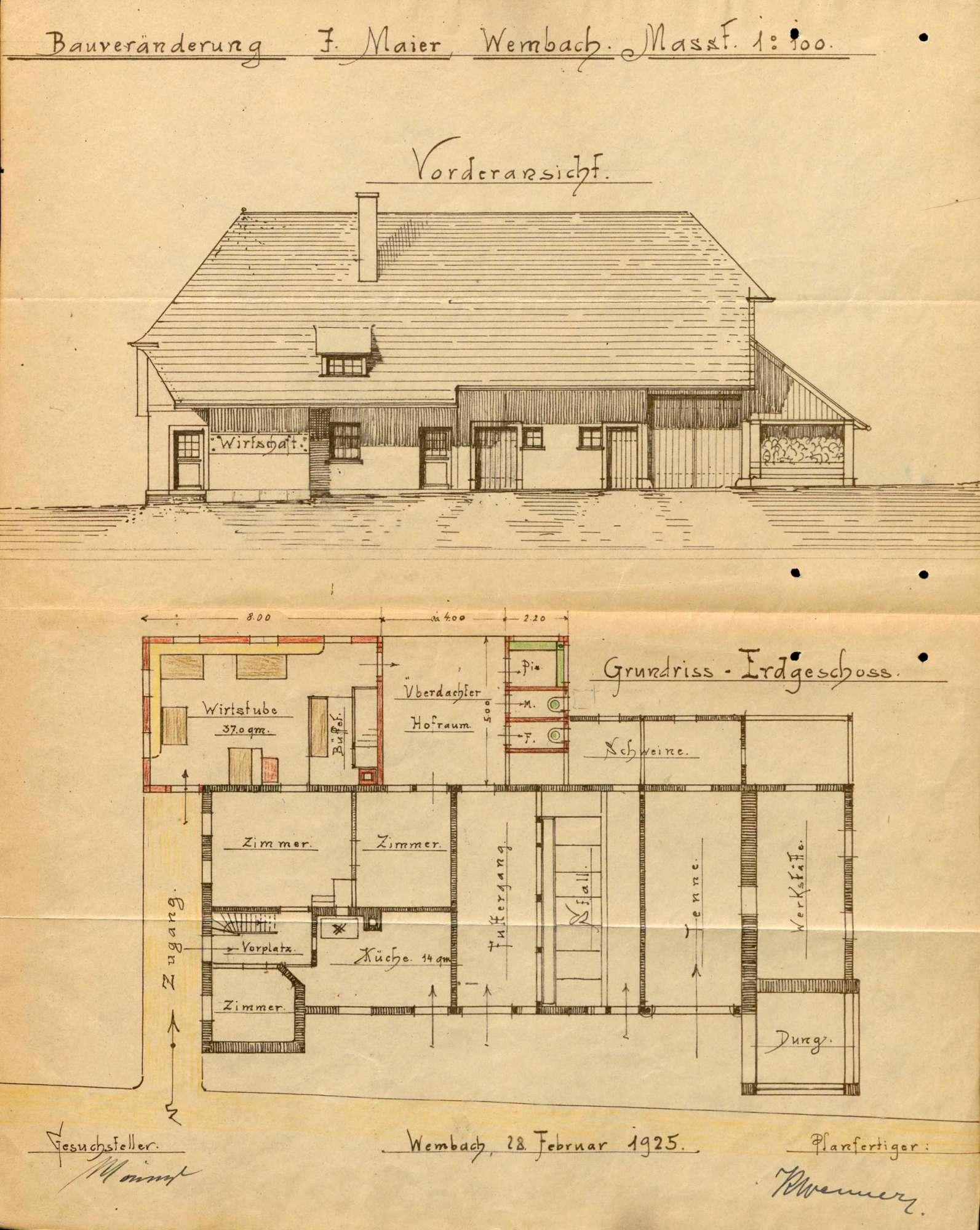 Verleihung der Wirtschaftskonzession für das Gasthaus Zum Maierhof in Wembach, Bild 1
