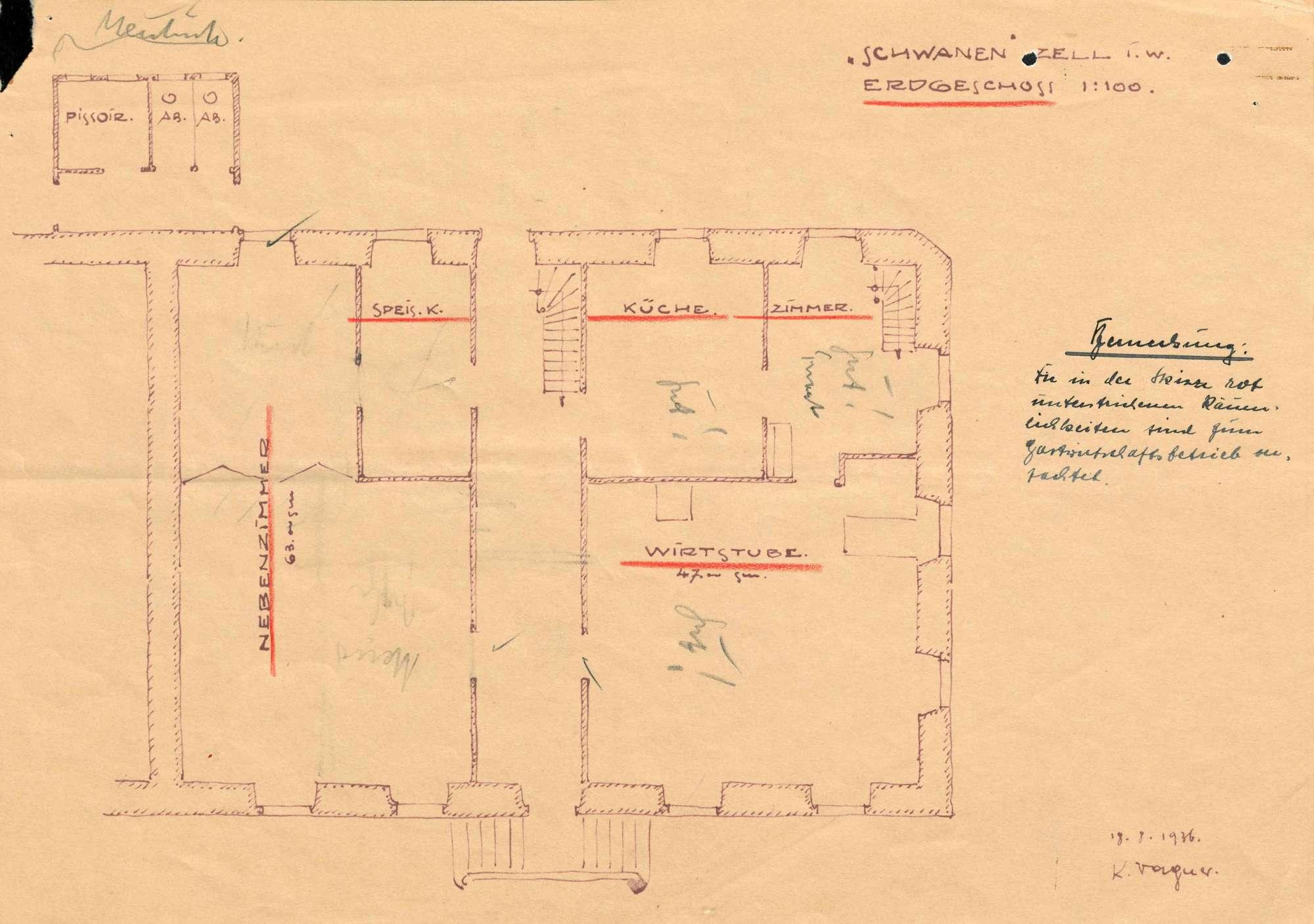 Verleihung der Wirtschaftskonzession für das Gasthaus Zum Schwanen in Zell im wiesental, Bild 2