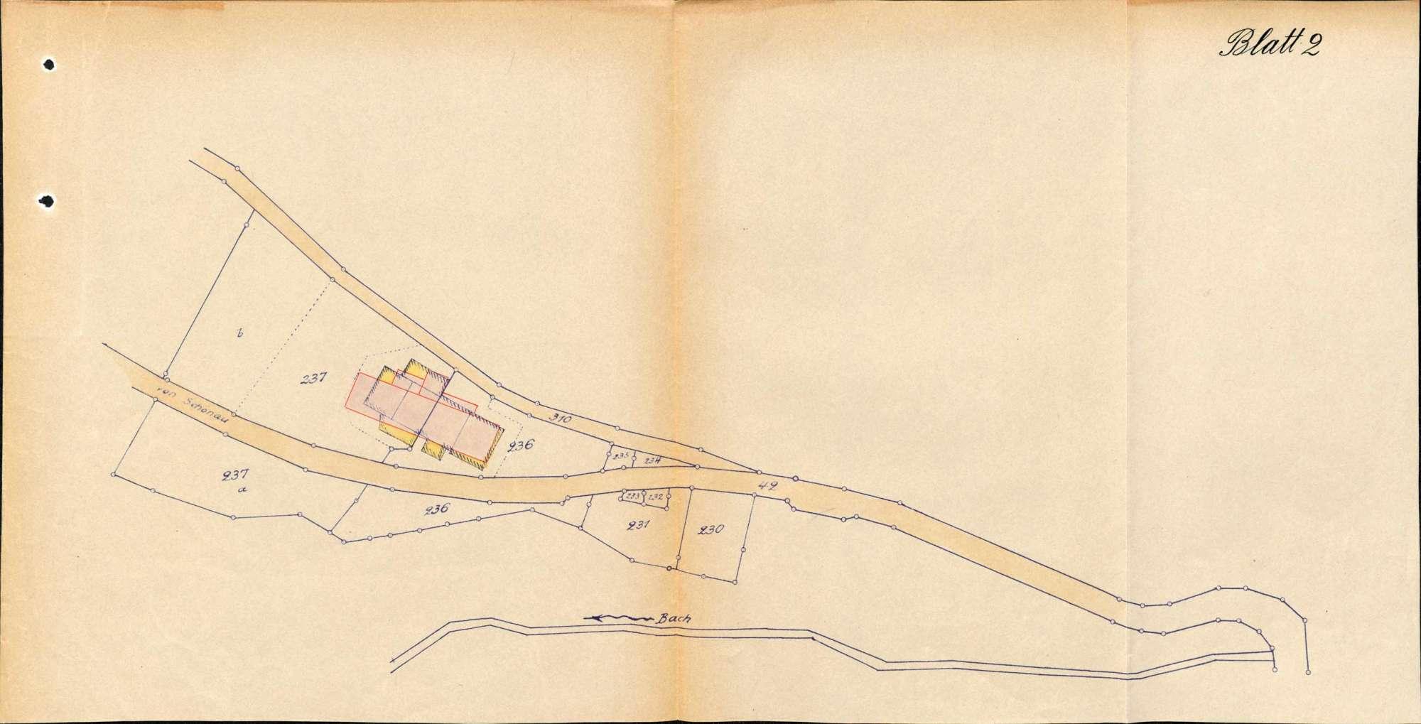 Wiederaufbau des durch den Brand vom 26.April 1936 zerstörten Ortes Tunau sowie Kostenbeihilfe hierzu, Bild 1