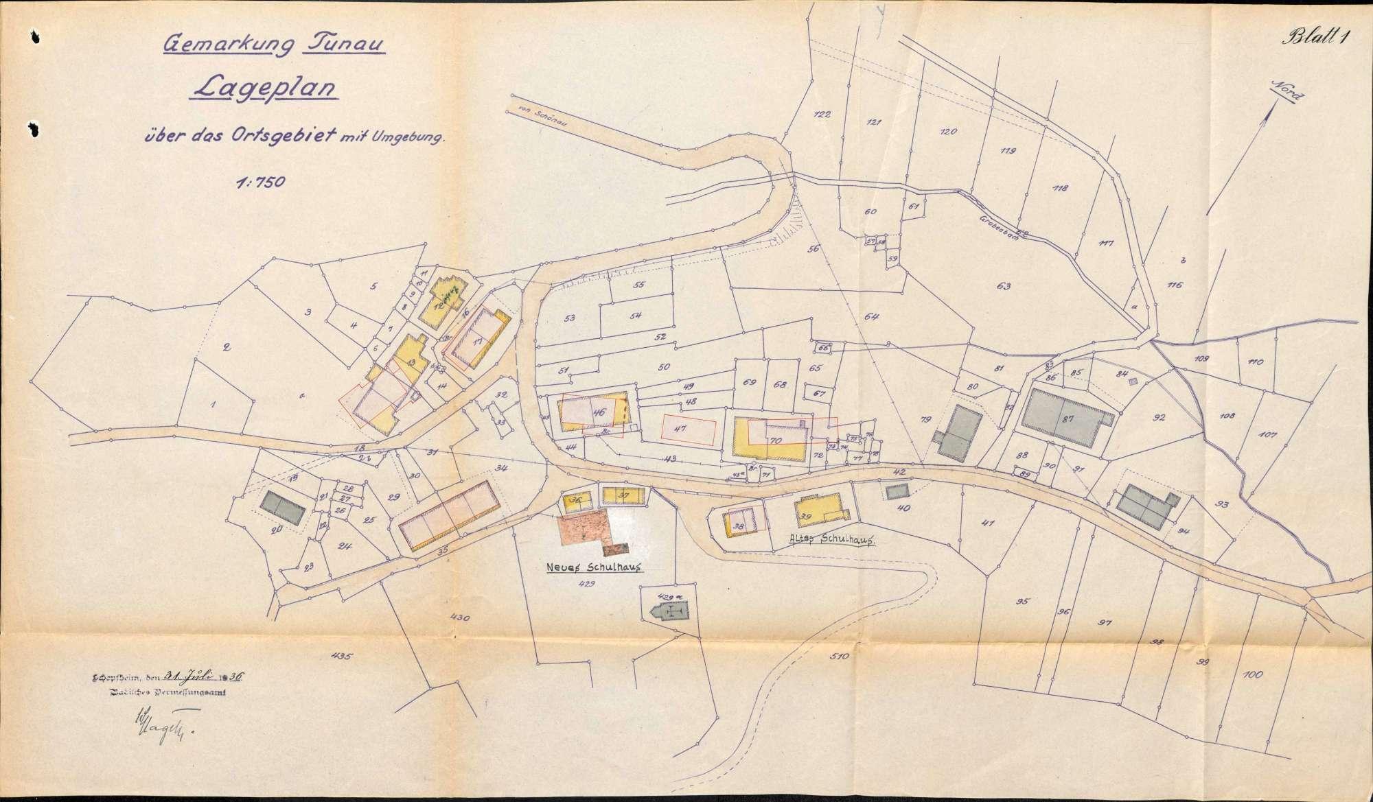 Wiederaufbau des durch den Brand vom 26.April 1936 zerstörten Ortes Tunau sowie Kostenbeihilfe hierzu, Bild 2
