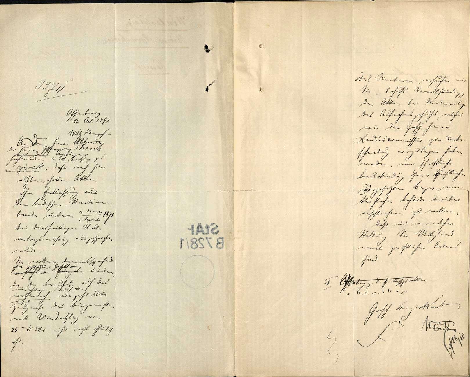 Gesuch des Missionars Wilhelm Kempf um Wiedererhaltung der deutschen Staatsbürgerrechts, Bild 2
