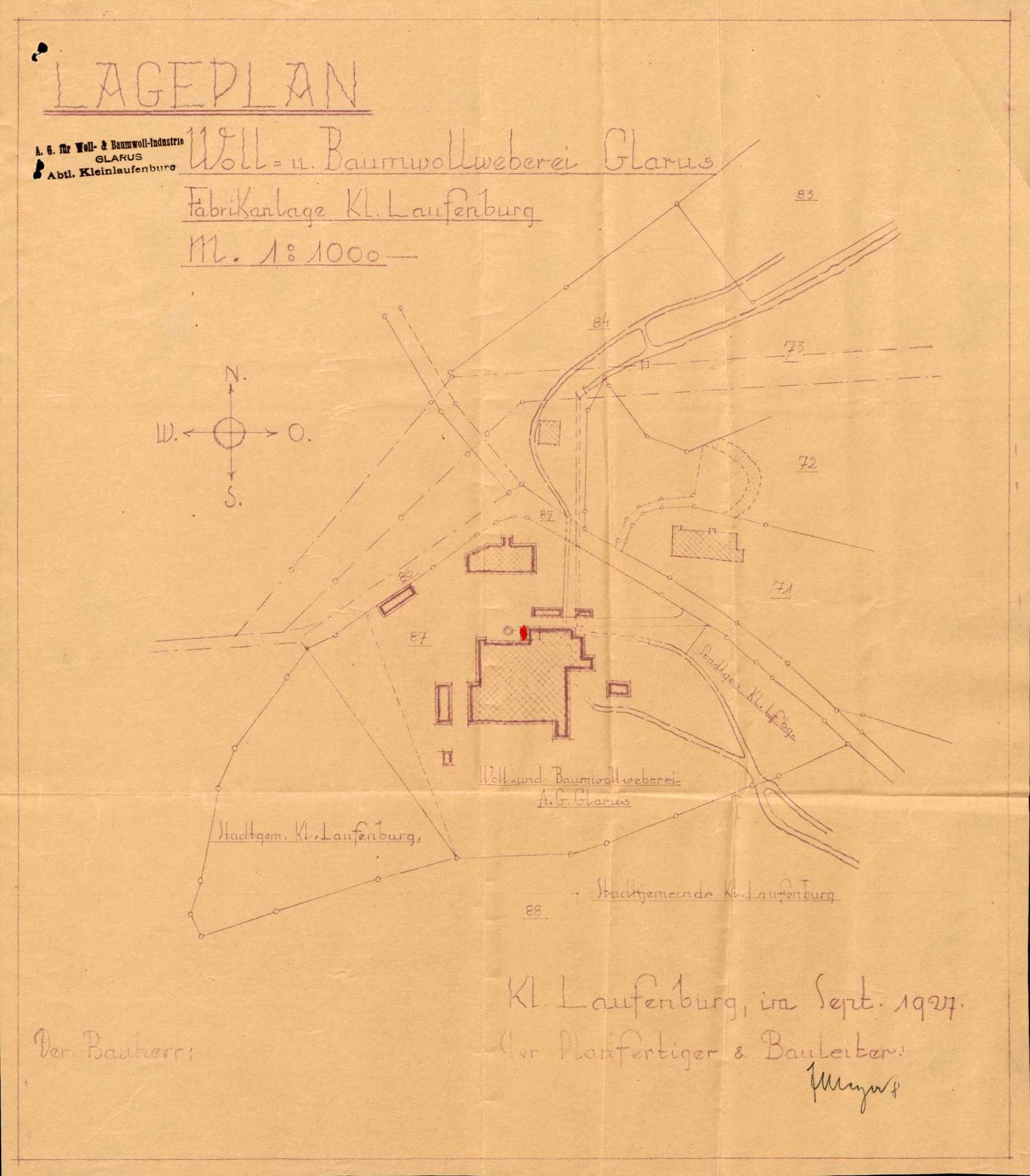 Dampfkessel der Firma Baumwoll-Industrie Glarus in Kleinlaufenburg bzw. Laufenburg (Baden), Bild 1