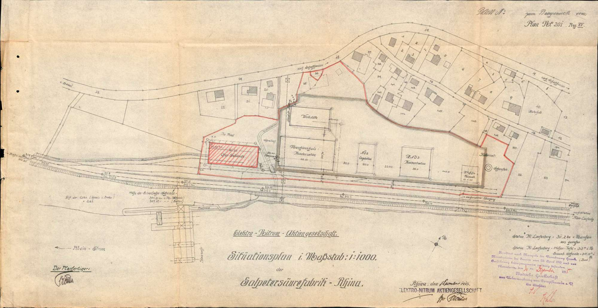 Dampfkessel der Firma Elektro-Nitrum AG in Rhina, Bild 1
