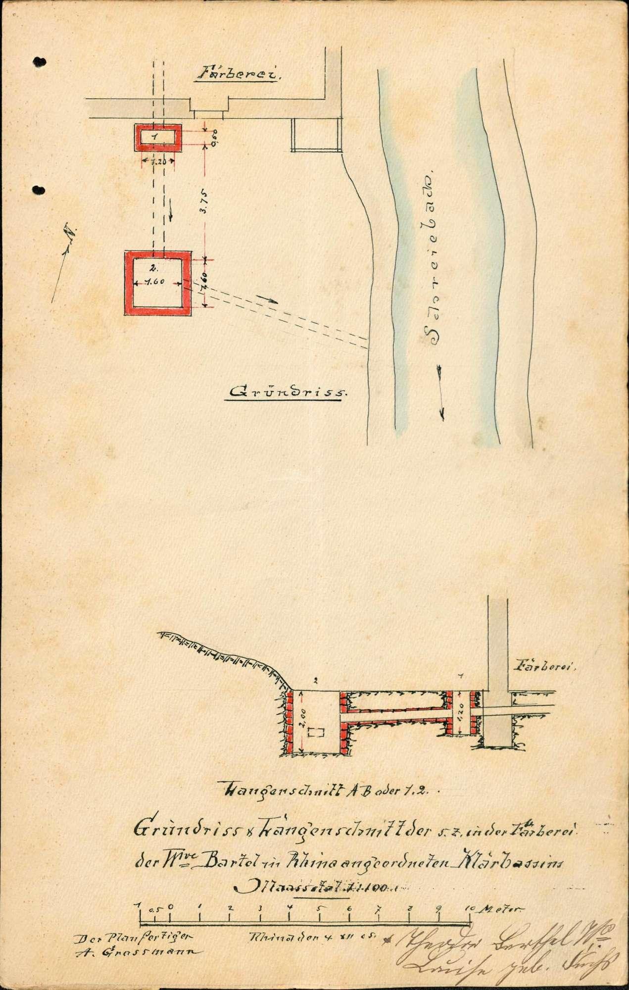 Ableitung von Färbereiabwässern der Firma Theodor Barthel in den Schreiebach in Rhina, Bild 2