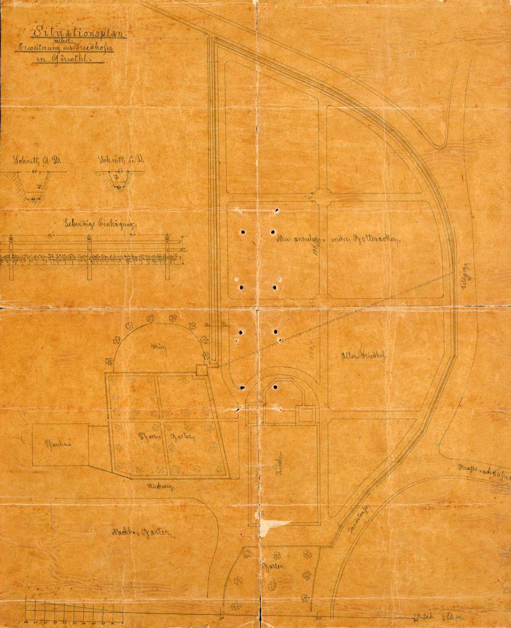 Erlass einer Friedhofsordnung für das Kirchspiel Görwihl, Bild 1