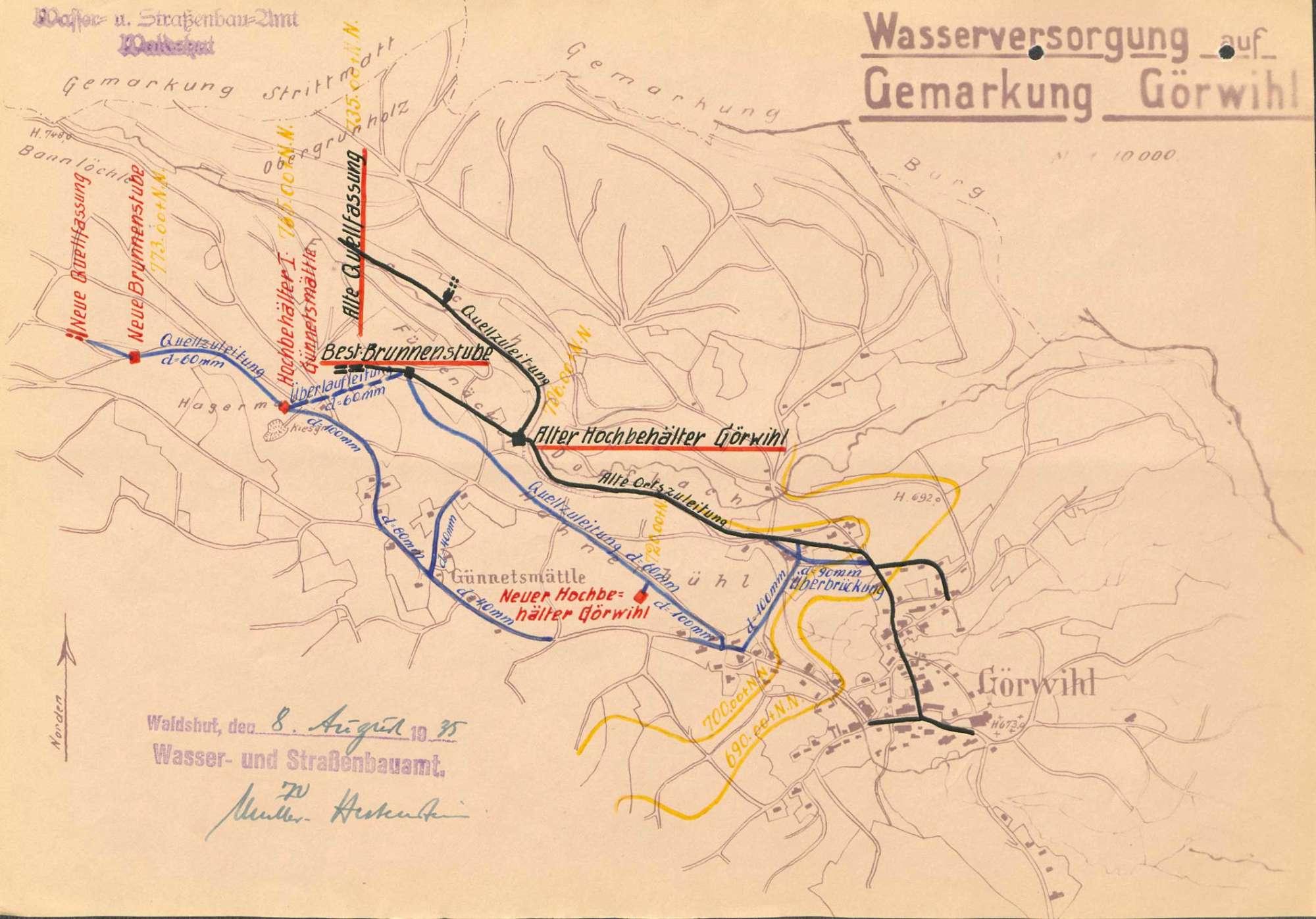 Herstellung und Unterhaltung der Wasserversorgung in Görwihl, Bild 1