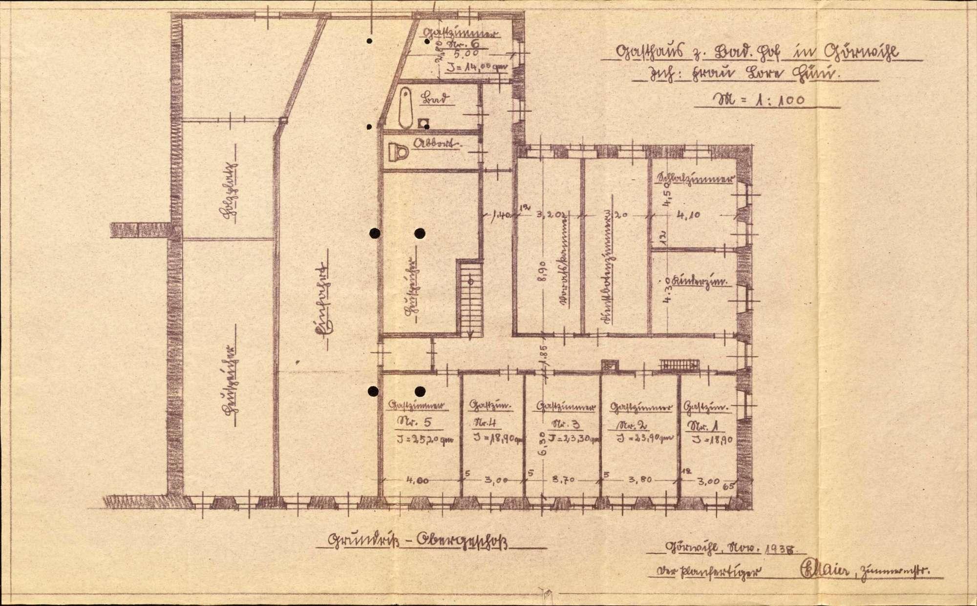 Konzessionierung und Betrieb der Gastwirtschaft Zum Badischen Hof in Görwihl, Bild 2