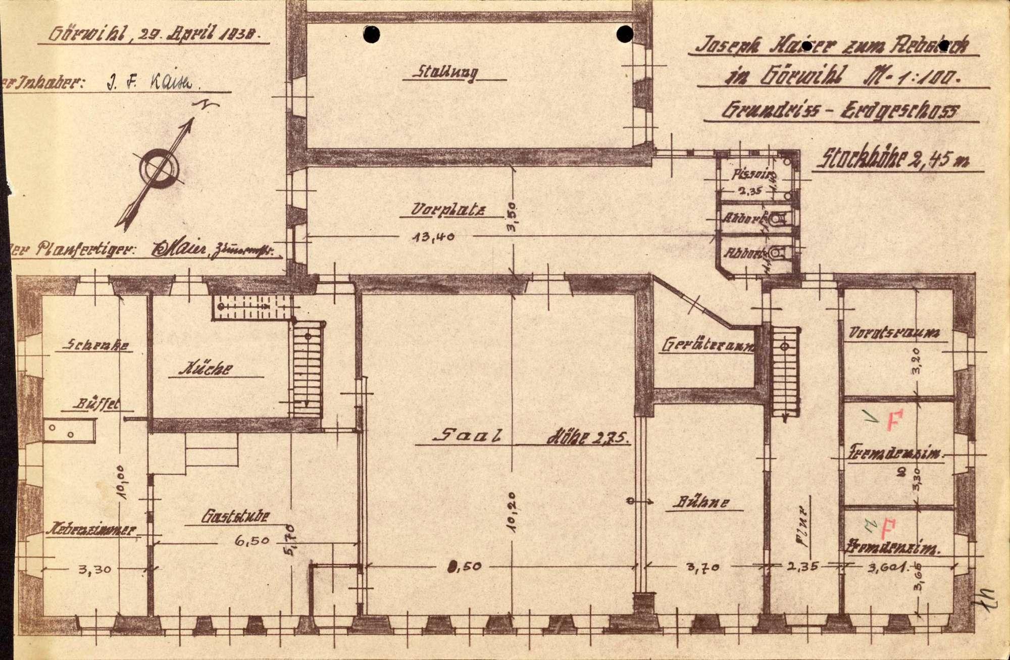 Konzessionierung und Betrieb der Schankwirtschaft Zum Rebstock in Görwihl, Bild 3