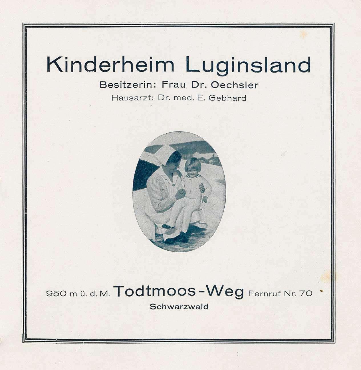 Betrieb des Kinderheims Luginsland in Todtmoos-Weg; Einzelwasserversorgung des Heims, Bild 2