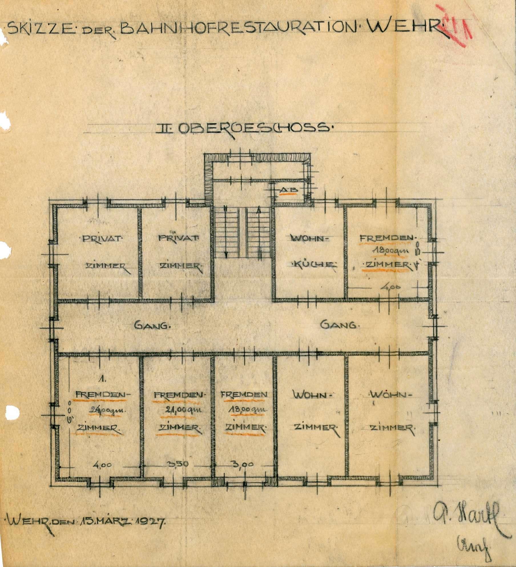 Konzessionierung und Betrieb der Bahnhofswirtschaft mit Branntweinausschank in Wehr, Bild 2