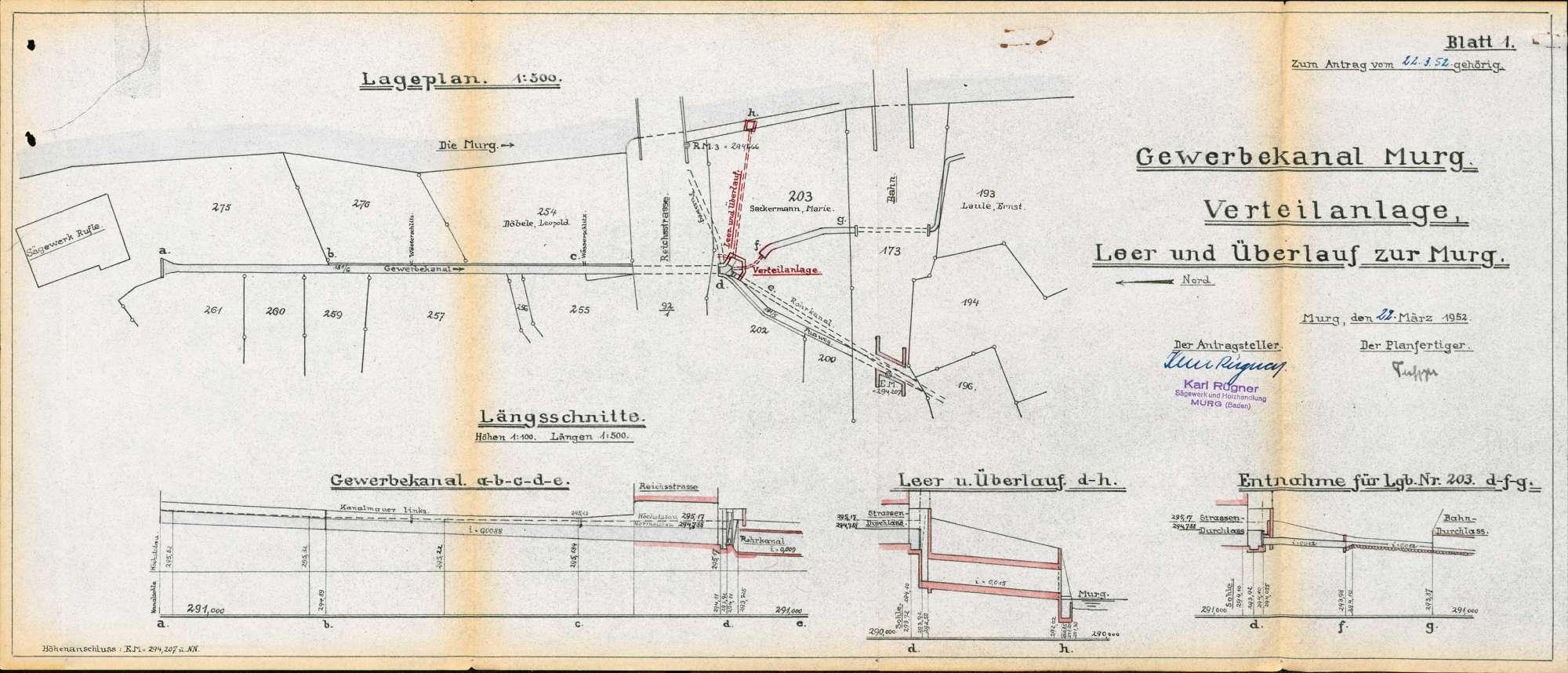 Wasserverteilanlage sowie Leer- und Überlauf des Gewerbekanals in Murg, Bild 2
