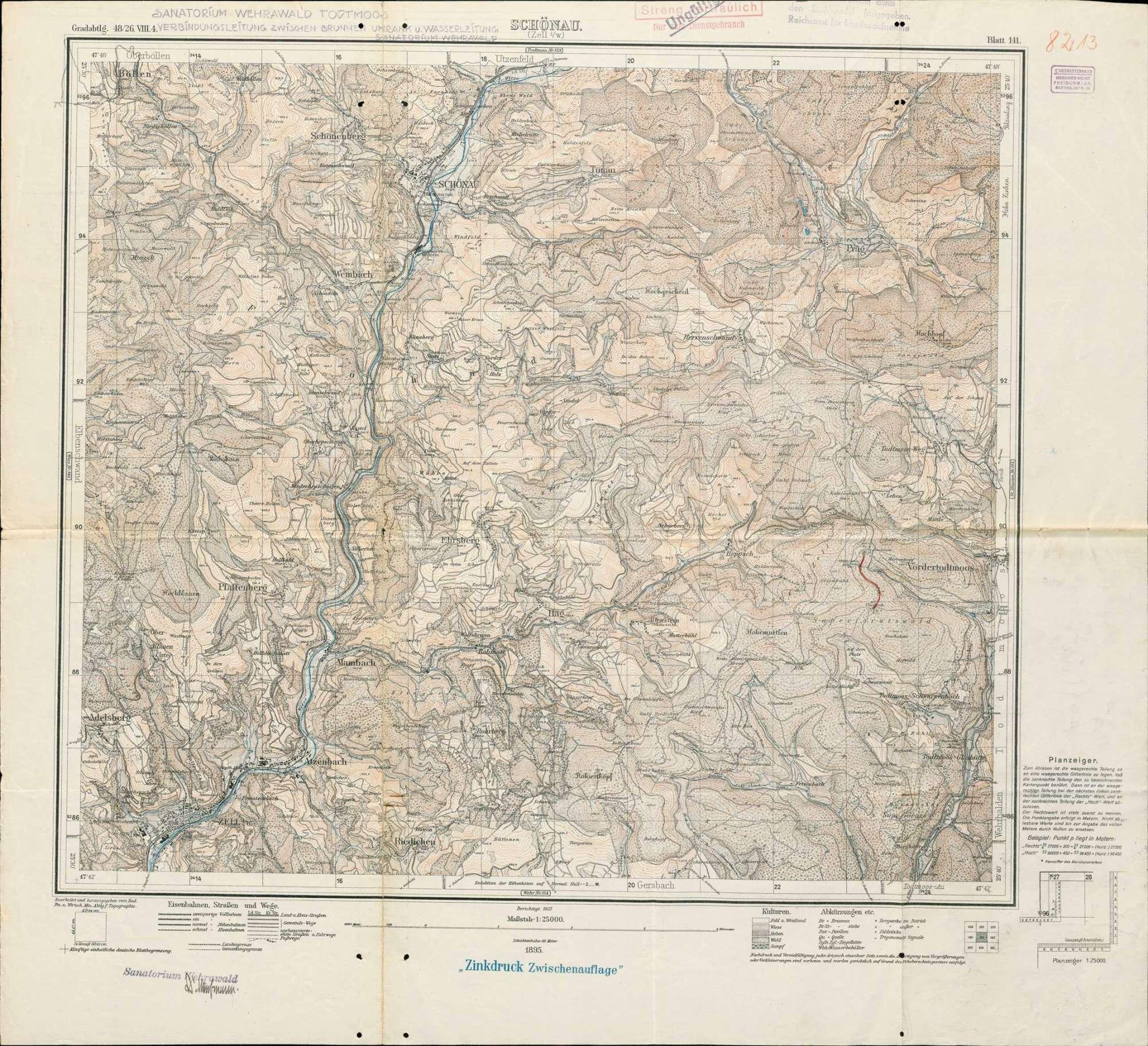 Fassung der Umrankquelle zur Verbesserung der Wasserversorung des Sanatoriums Wehrawald in Todtmoos, Bild 1
