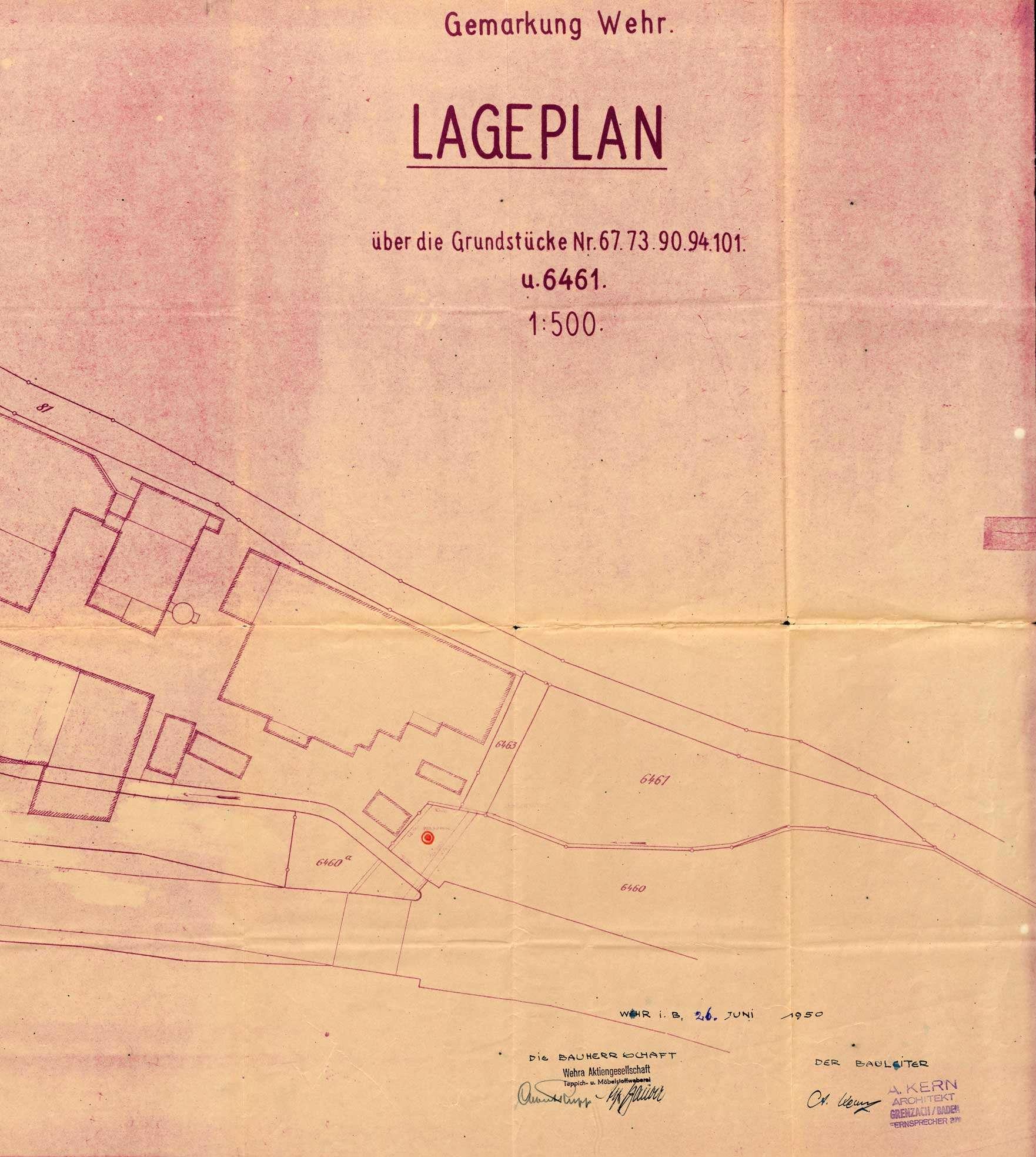 Antrag der Firma Wehra AG in Wehr auf wasserpolizeiliche Genehmigung zur Erstellung einer Brunnenanlage, Bild 2