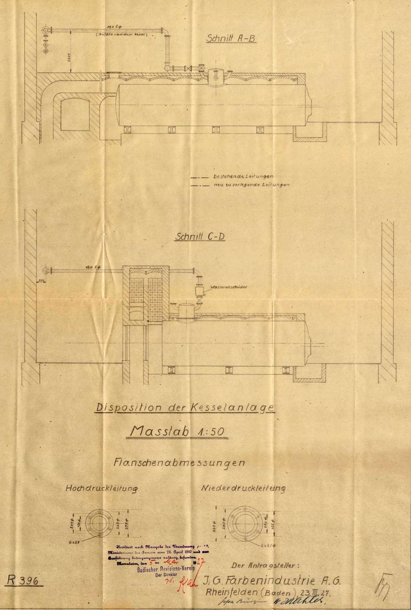 Dampfkessel der Firma IG Farbenindustrie AG in Rheinfelden (Baden), Bild 3