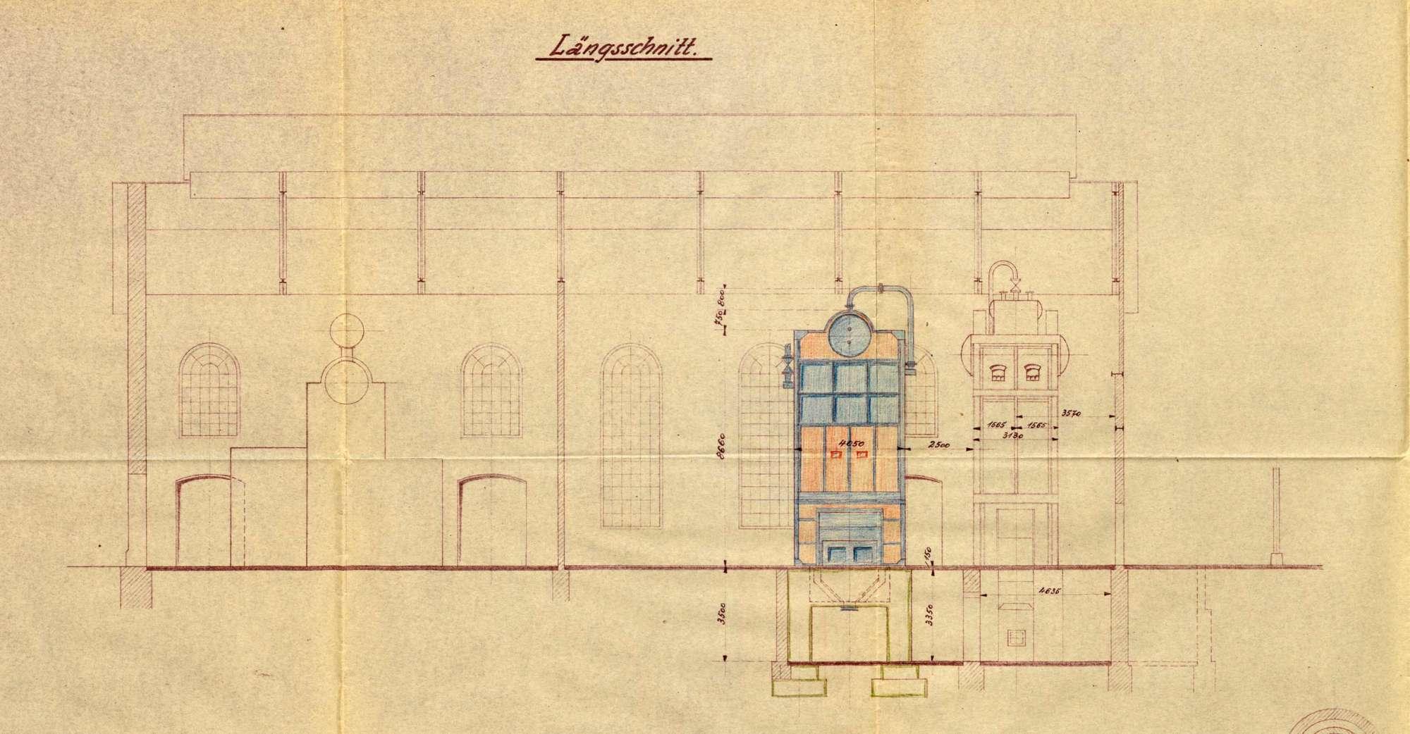 Dampfkessel der Firma Deutsche Gold- und Silberscheideanstalt, vormals Rössler Werk, in Rheinfelden (Baden), Bild 2