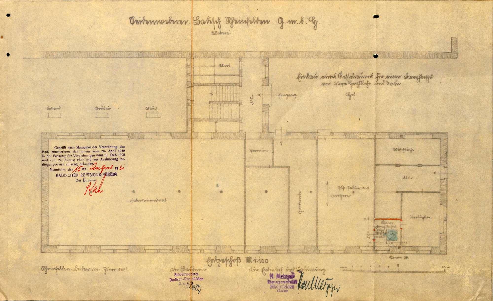 Dampfkessel der Firma Seidenweberei GmbH in Rheinfelden (Baden), Bild 2
