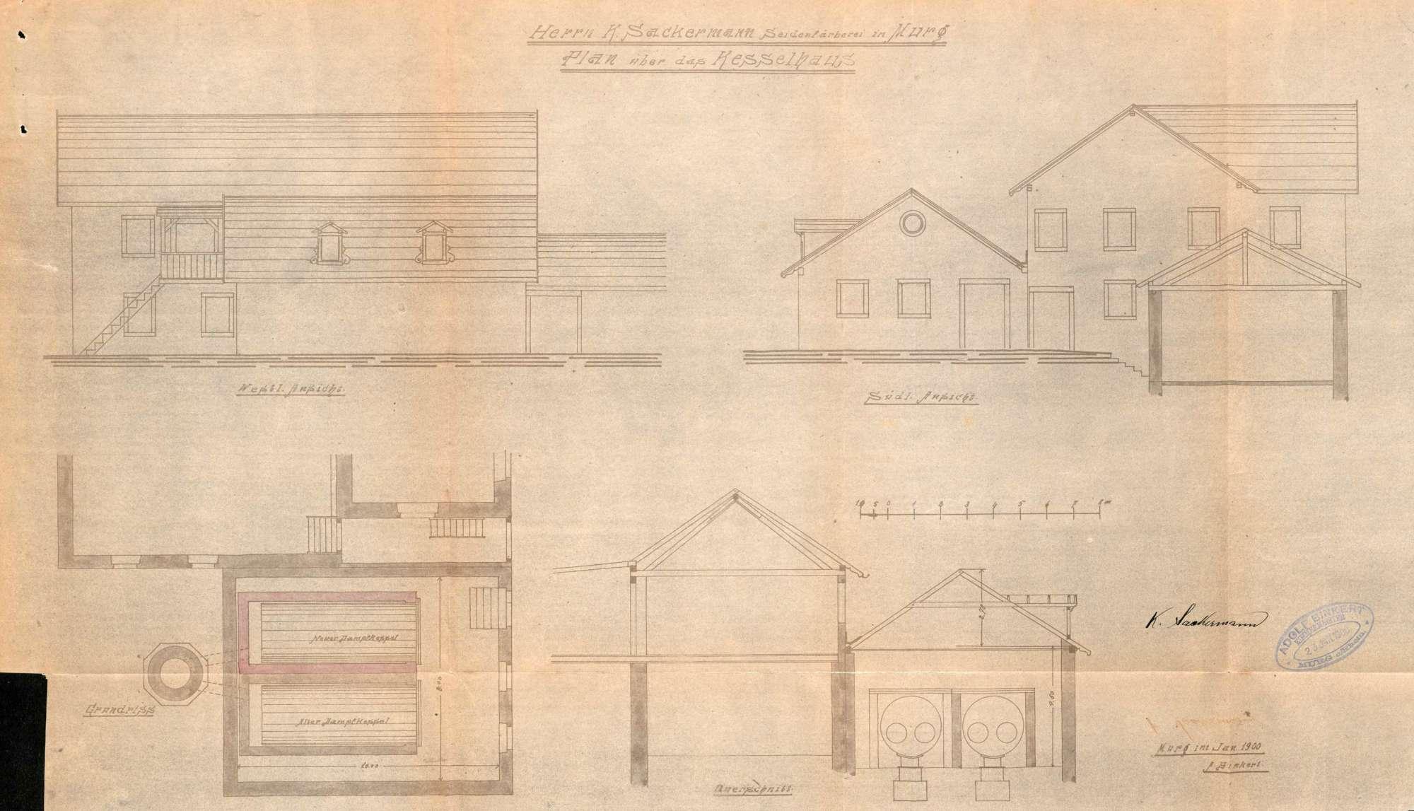 Dampfkessel der Firma Seidenfärberei K. Sackermann in Murg, Bild 2
