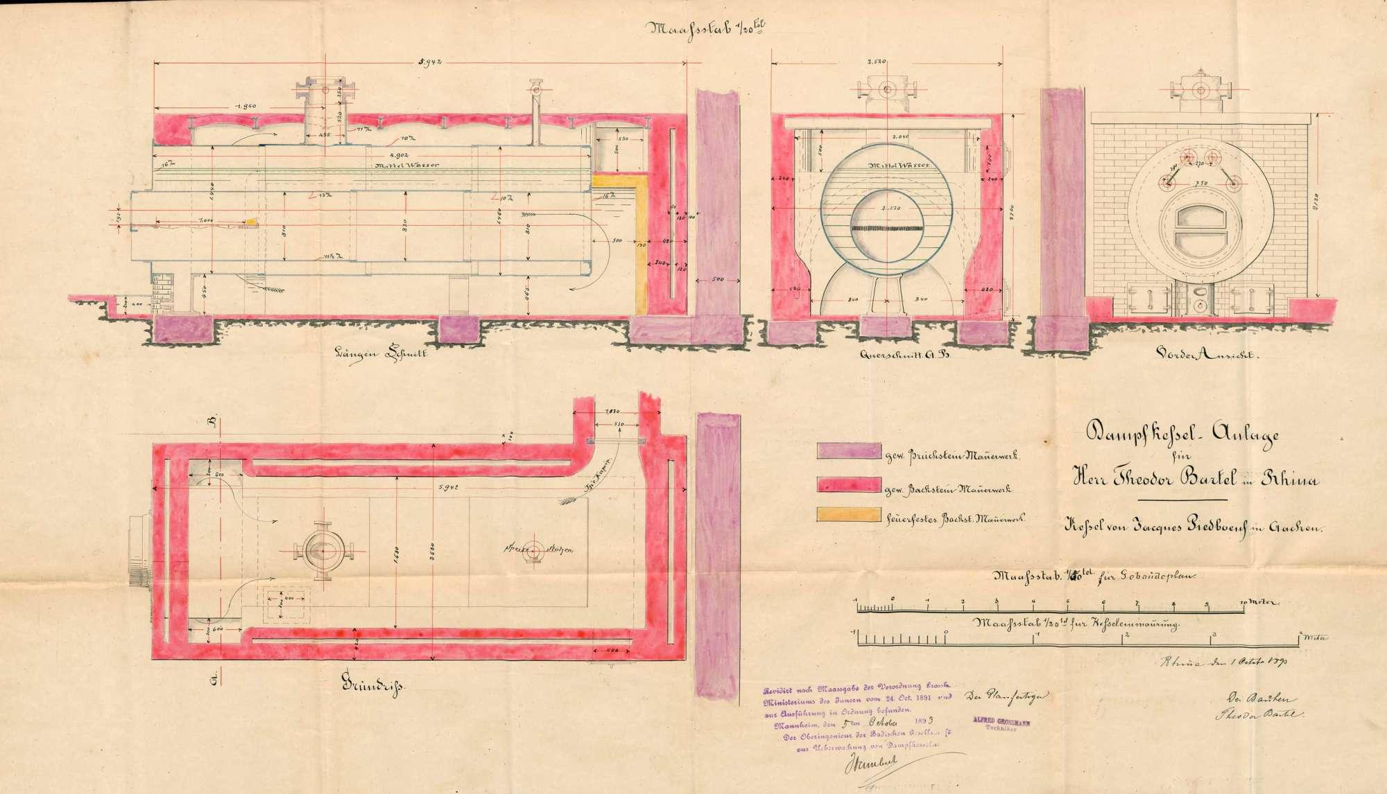 Dampfkessel der Firma Färberei Theodor Bartel in Rhina, Bild 2
