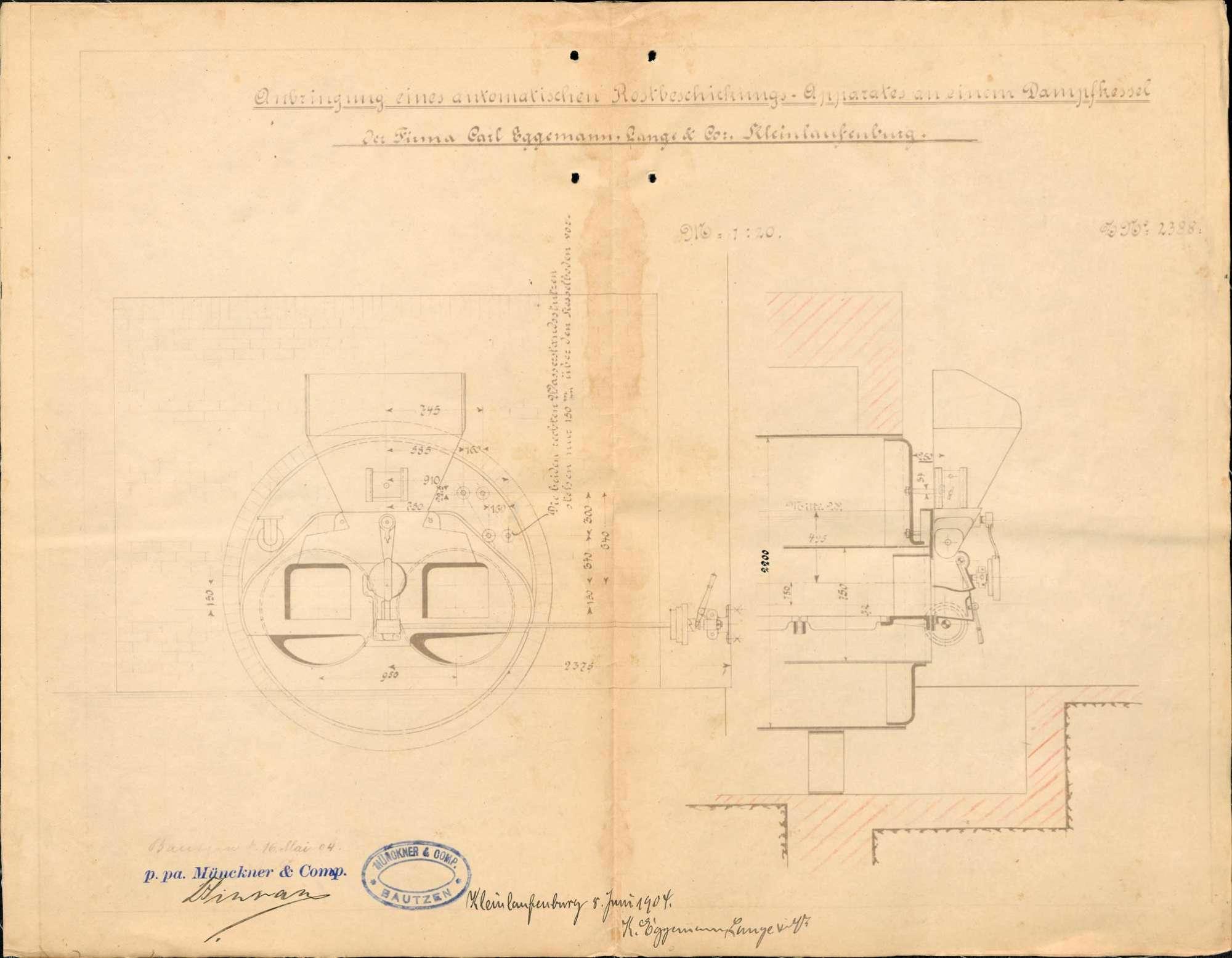 Dampfkessel der Firma Eggemann-Lange & Co. in Kleinlaufenburg, Bild 1