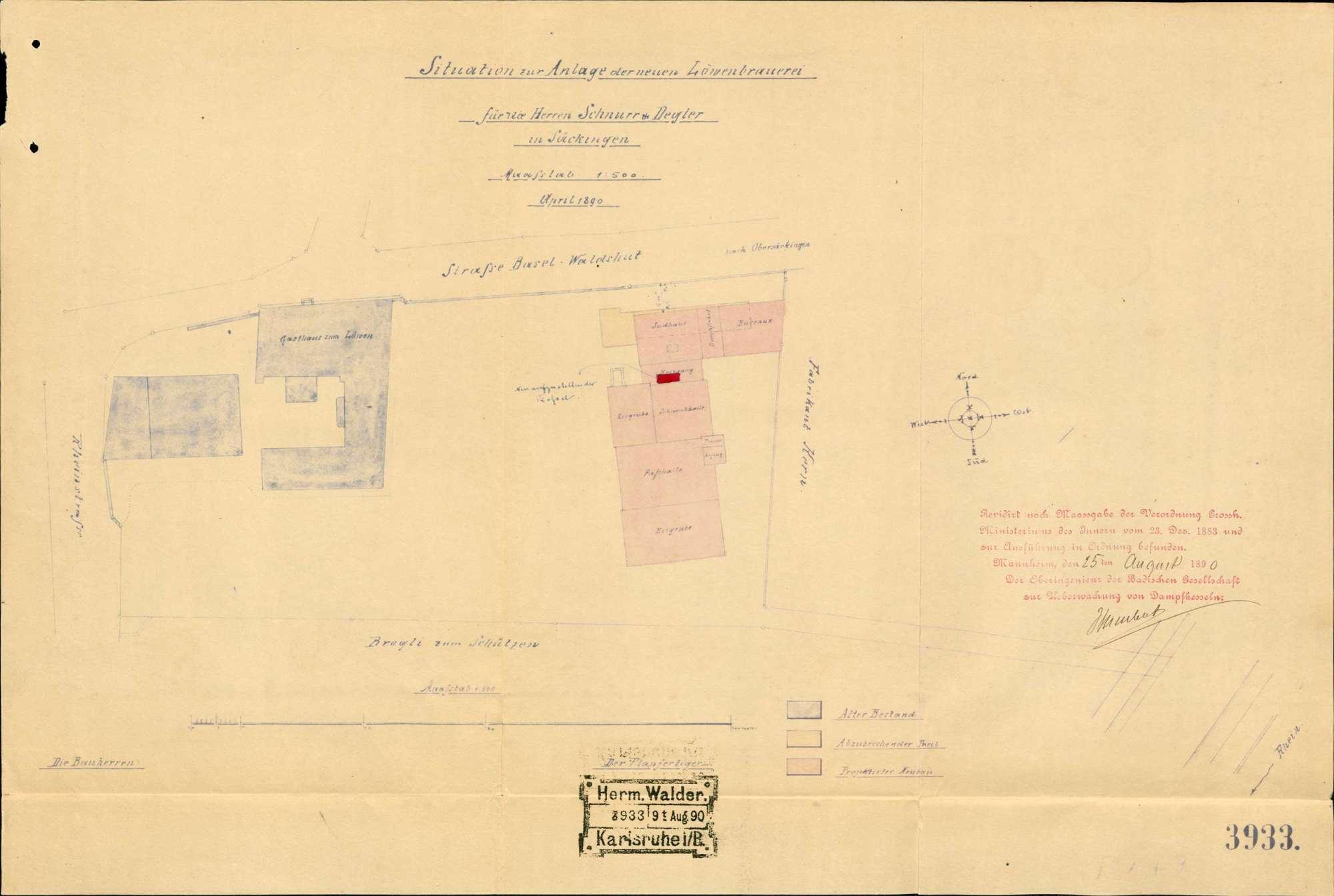 Dampfkessel der Firma Schnurr & Degler in Säckingen, Bild 1