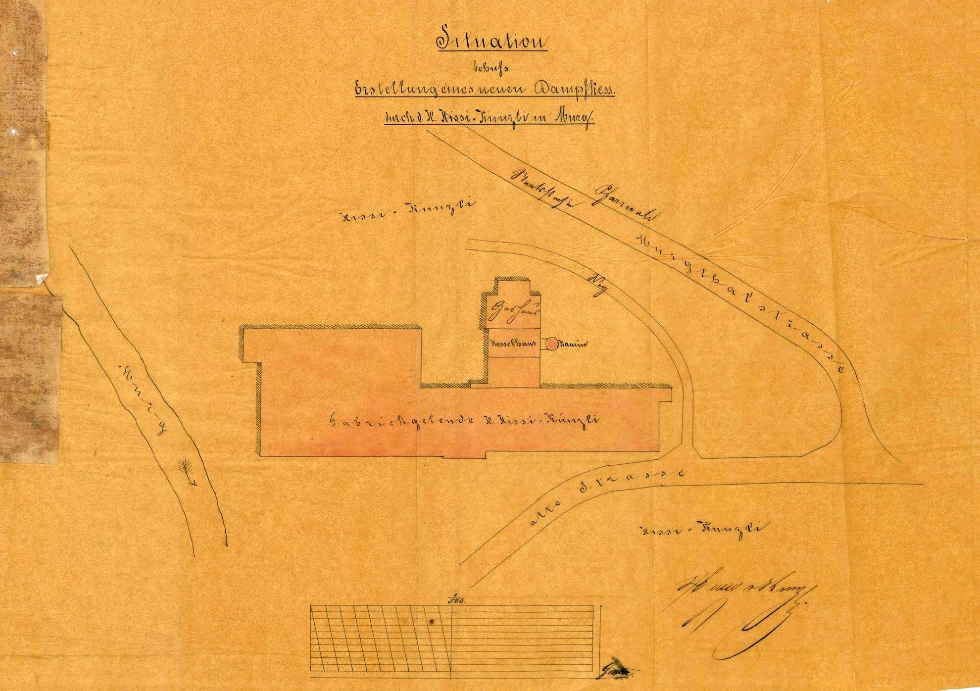 Dampfkessel der Firma Hüssy & Künzli in Murg, Bild 1