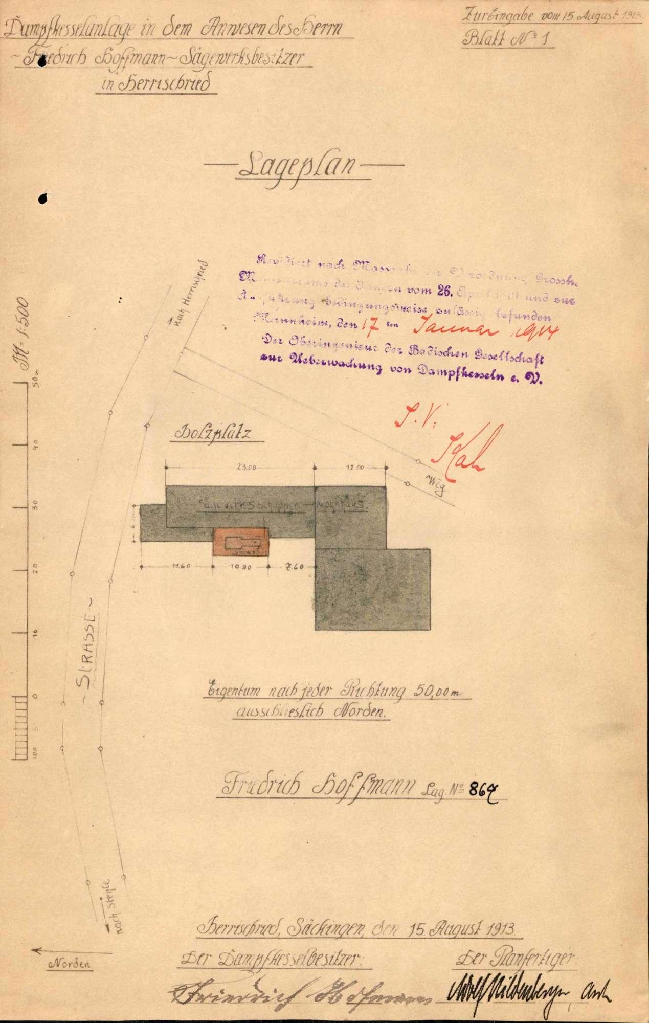 Dampfkessel der Firma Friedrich Hofmann in Herrischried, Bild 1