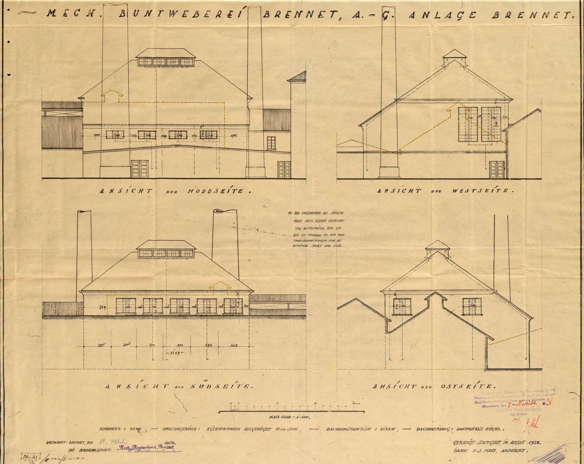 Dampfkessel der Firma C. A. Hipp & Co., Mechanische Buntweberei Brennet, in Öflingen, Bild 3