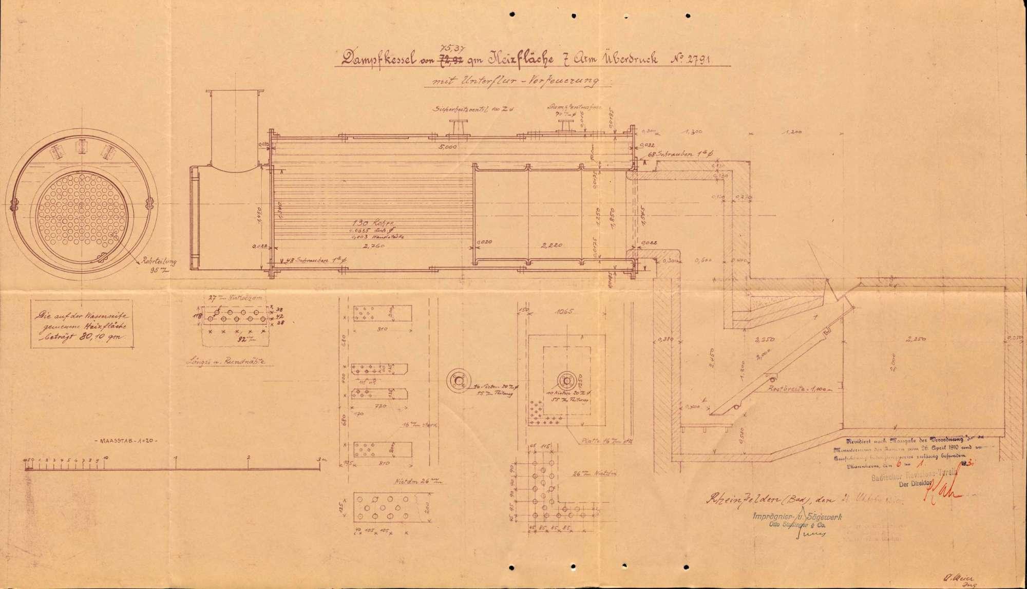 Dampfkessel der Firma Sägewerk Otto Studinger & Co. in Rheinfelden (Baden), Bild 3