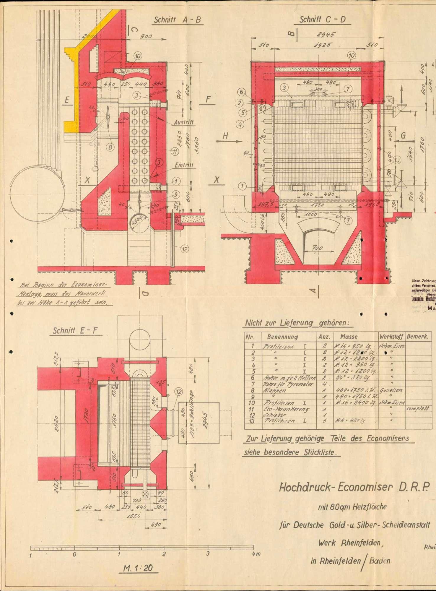 Dampfkessel der Firma Gold- und Silberscheideanstalt, vormals Rössler AG, in Badisch Rheinfelden bzw. Rheinfelden (Baden), Bild 3