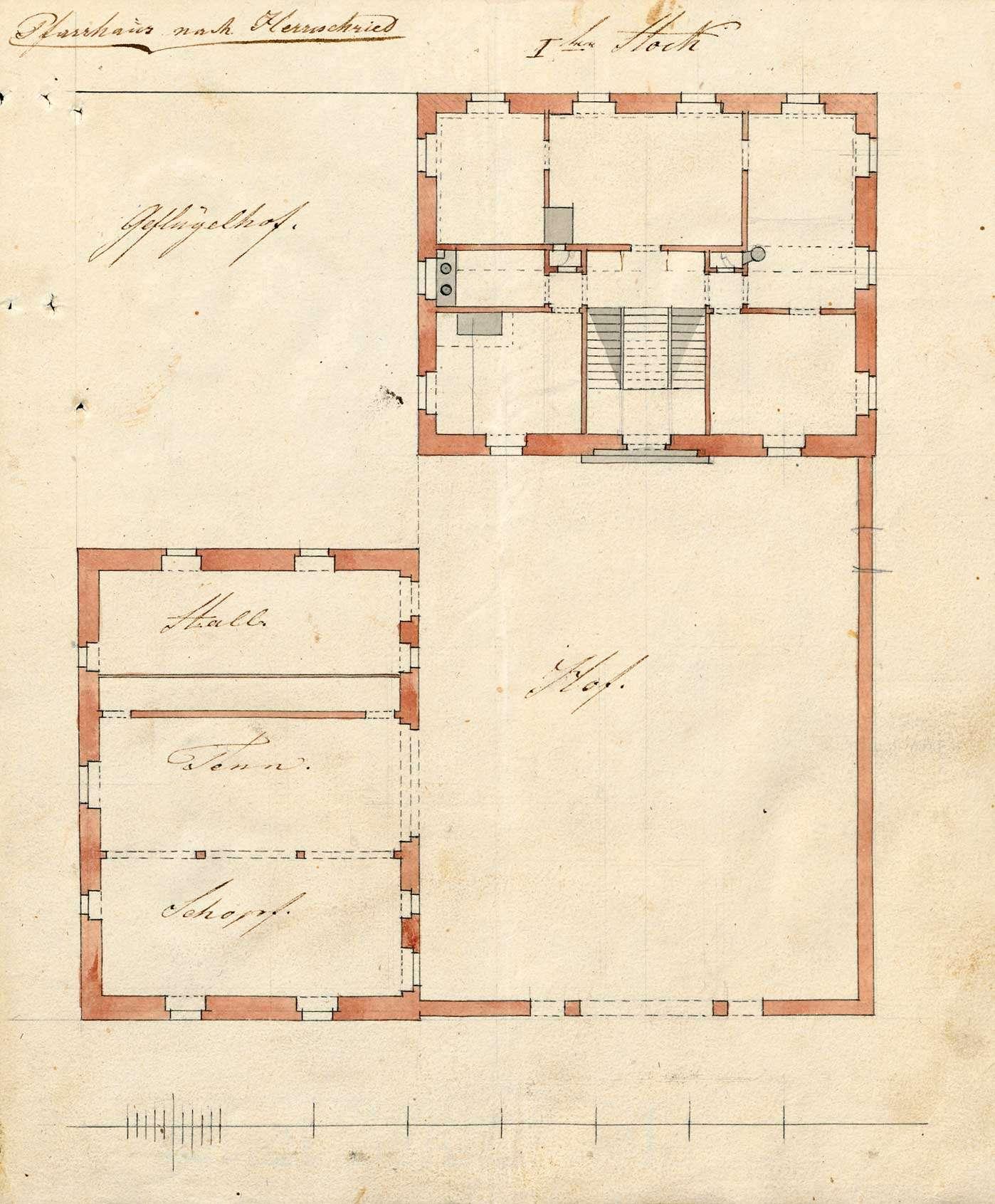 Erbauung der Pfarrgebäulichkeiten in Herrischried, Bild 3
