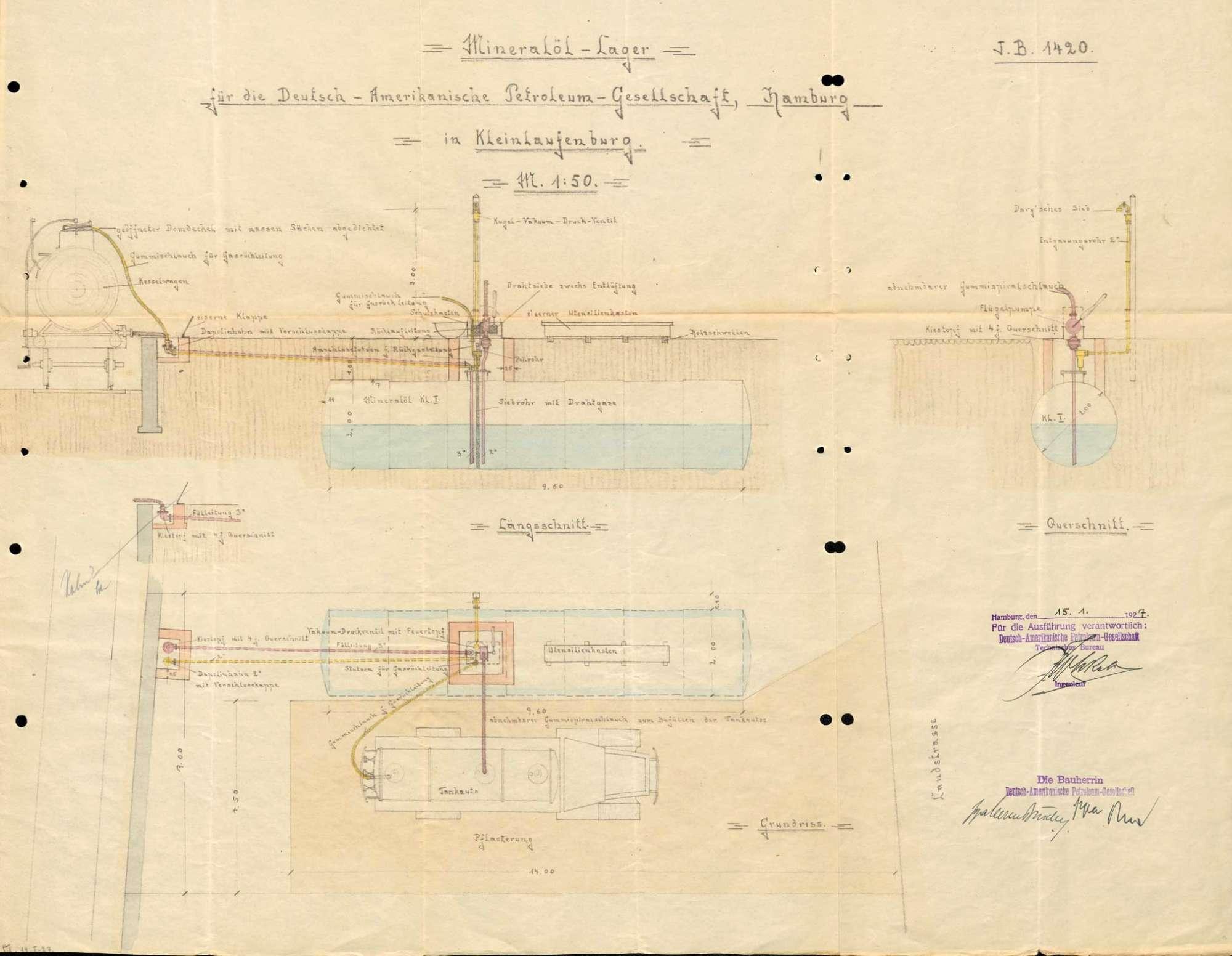 Errichtung und Betrieb des Tanklagers der Firma Mowak Maier & Cie in Kleinlaufenburg bzw. Laufenburg (Baden), Bild 1