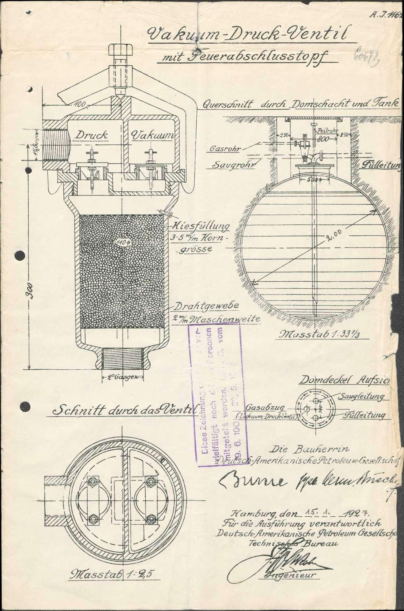Errichtung und Betrieb des Tanklagers der Firma Mowak Maier & Cie in Kleinlaufenburg bzw. Laufenburg (Baden), Bild 3