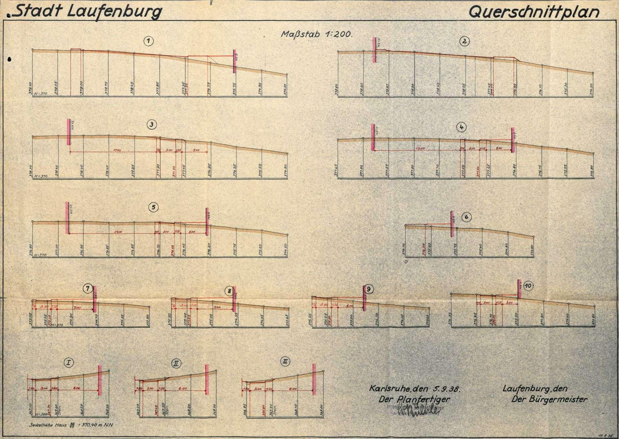 Feststellung der Straßen- und Baufluchten in den Gewannen Wolfsgrube und Bleiche auf Gemarkung Laufenburg (Baden), Bild 3