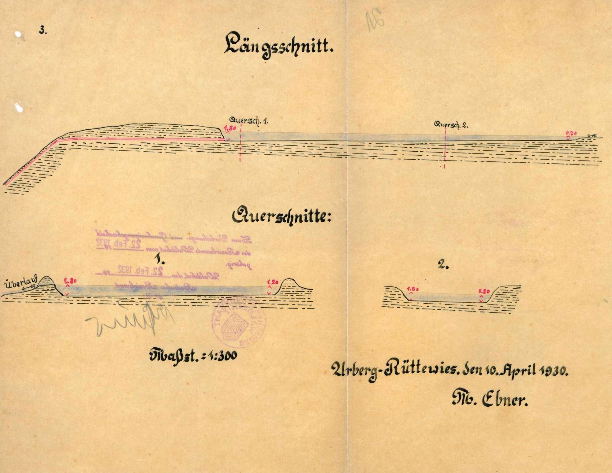Wassernutzung des Matthias Ebner in Urberg-Rüttewies am Sägebächle auf Gemarkung Urberg, Bild 3