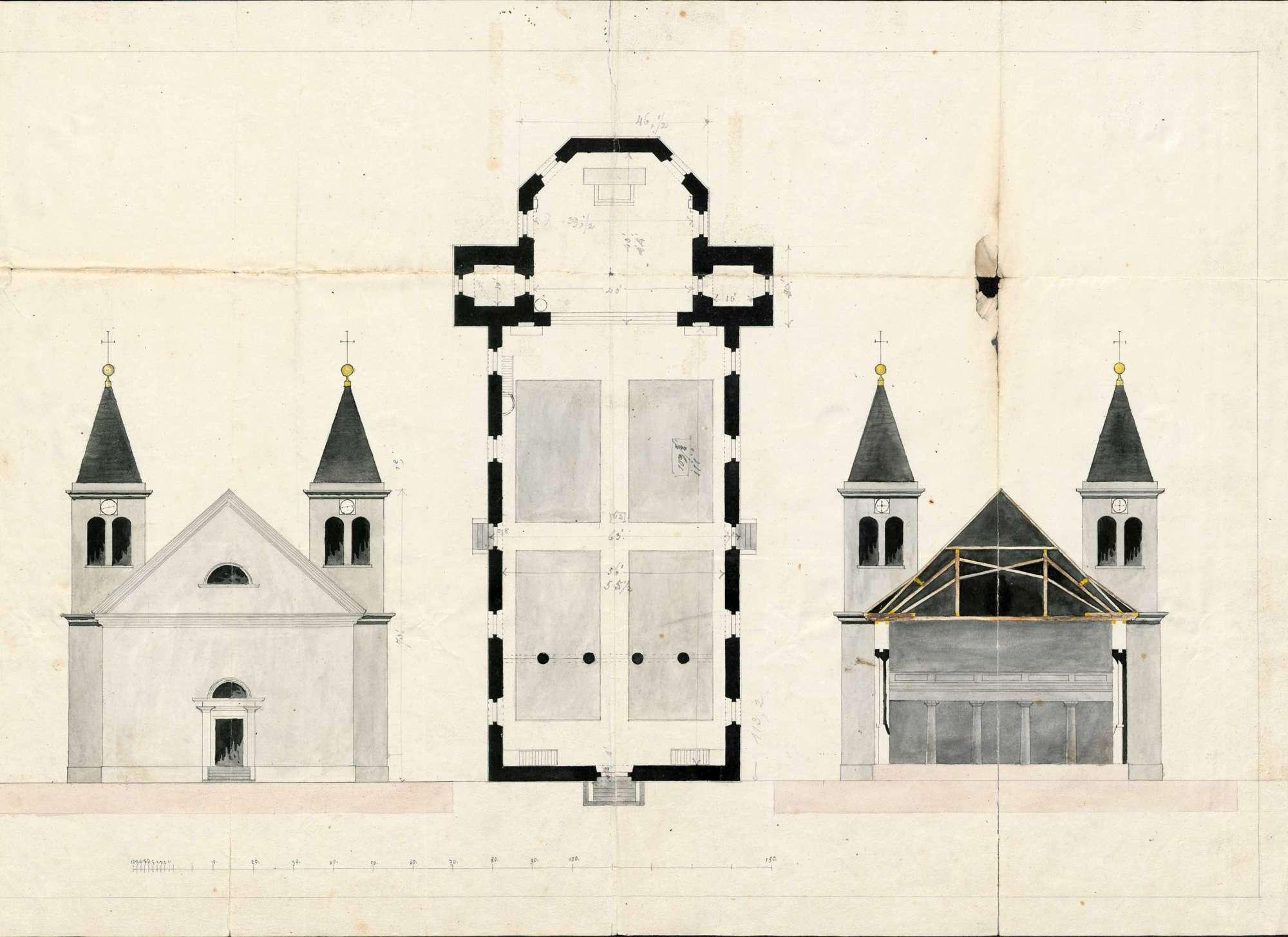 Wiederaufbau der abgebrannten Kirche zu Herrischried, Bild 2