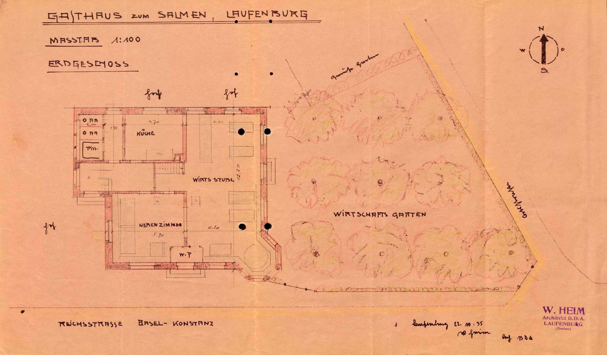 Konzessionierung und Betrieb des Gasthauses Zum Salmen in Kleinlaufenburg bzw. Laufenburg (Baden), Bild 1