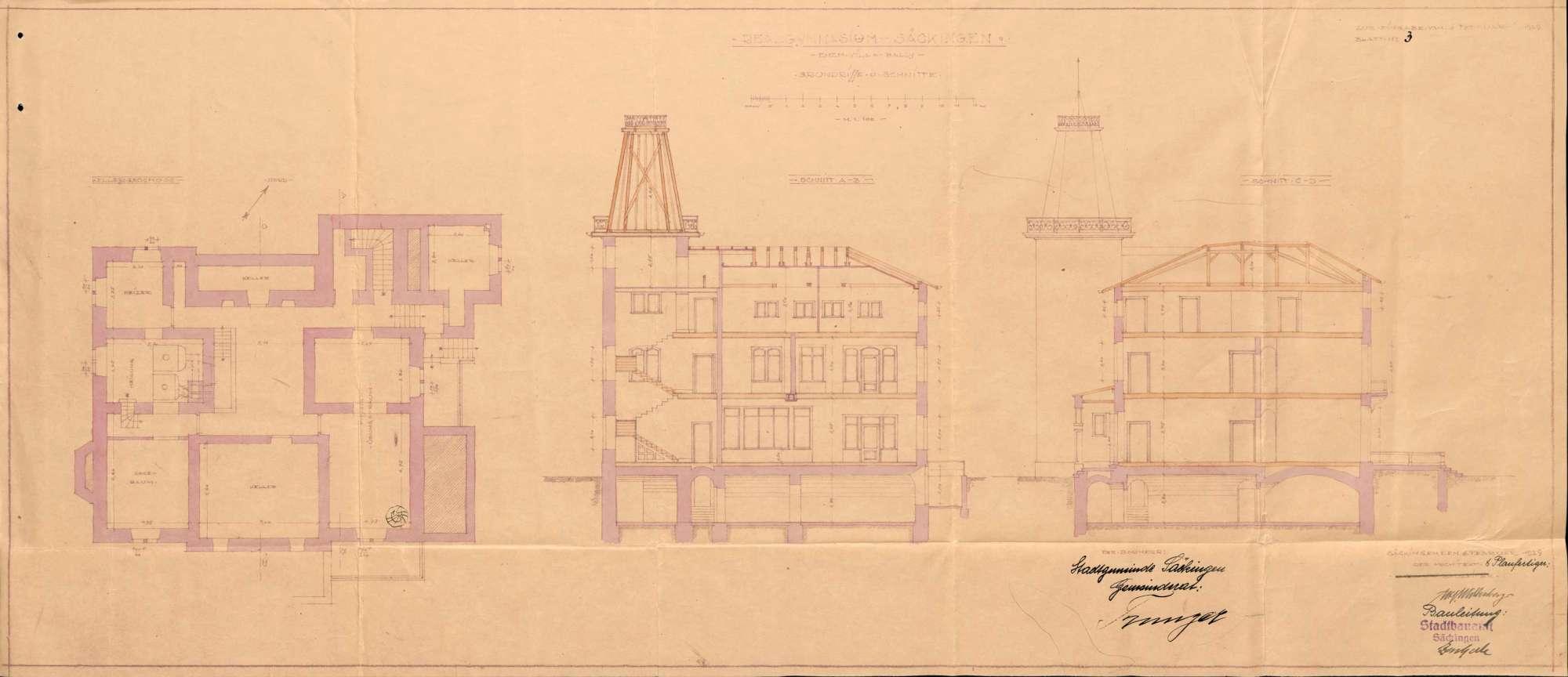 Erstellung von Schulräumlichkeiten für das Realgymnasium in Säckingen, Bild 3