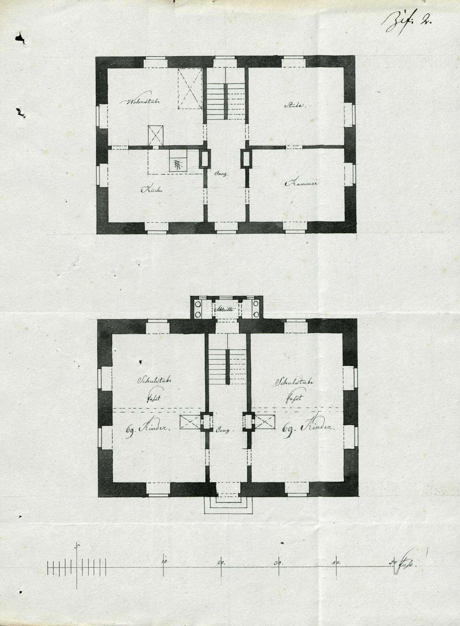 Erbauung eines neuen Schulhauses in Oberschwörstadt für die Gemeinden Oberschwörstadt, Unterschwörstadt und Dossenbach, Bild 1