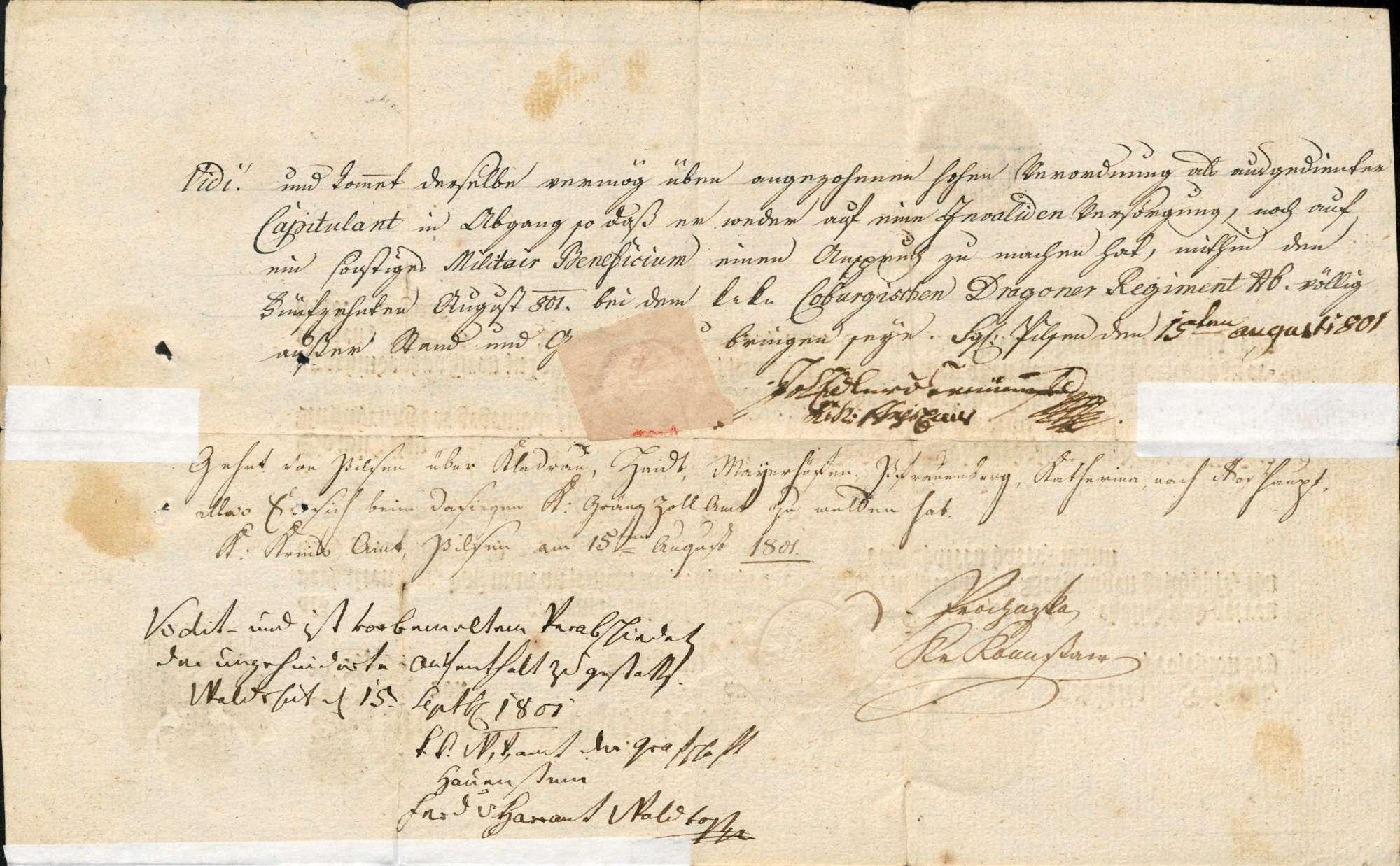 Heimatverhältnisse des Joseph Waßmer in Herrischried, Bild 1