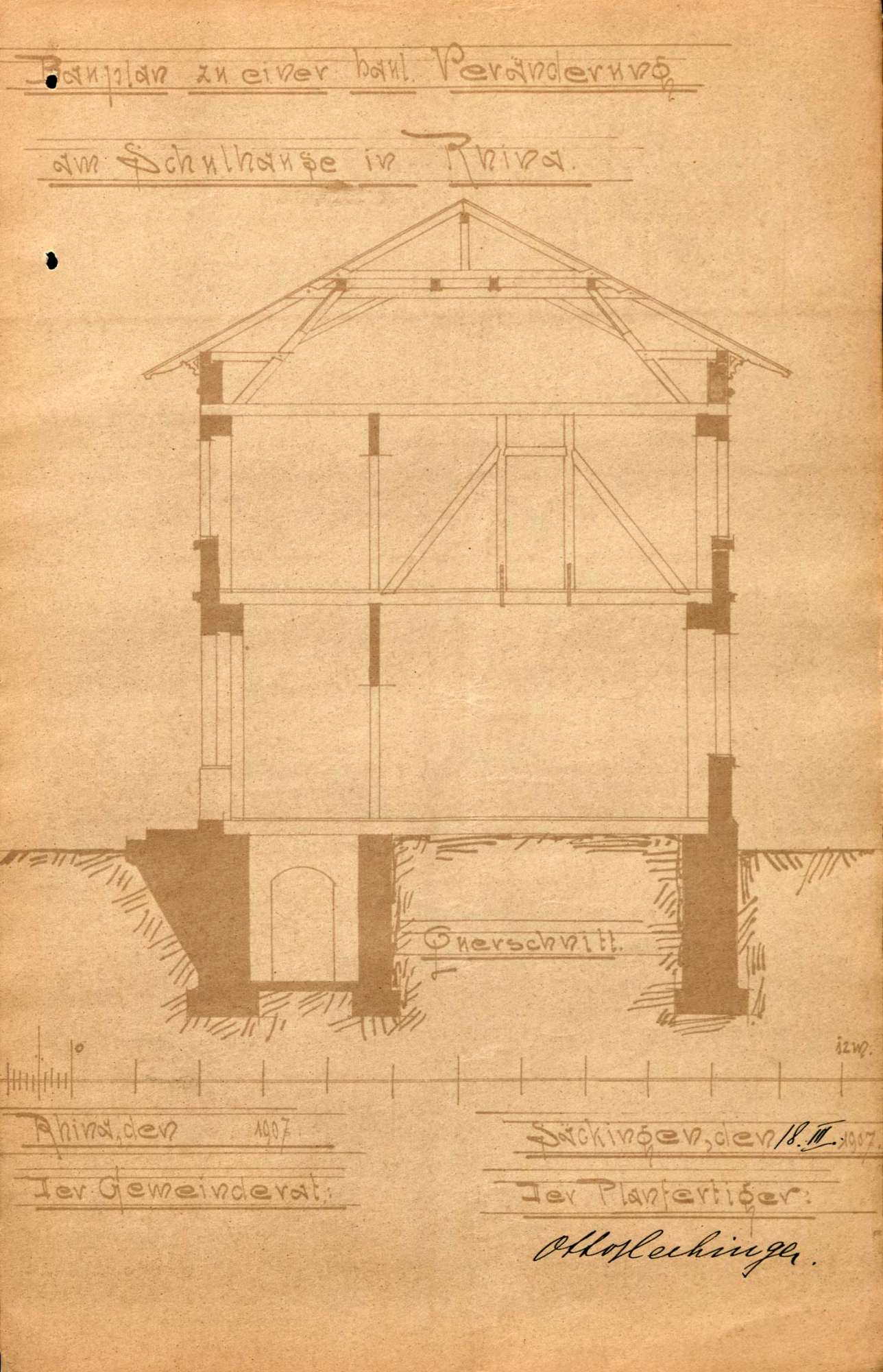 Bau und Unterhaltung des Schulhauses der Gemeinde Rhina, Bild 2