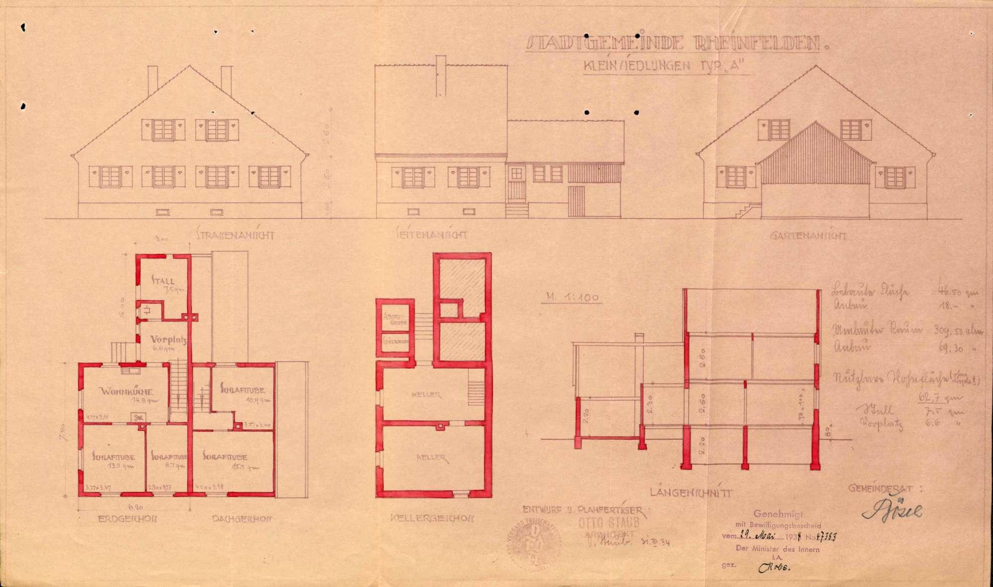 Errichtung einer vorstädtischen Kleinsiedlung durch die Stadtgemeinde Rheinfelden (Baden), Bild 3