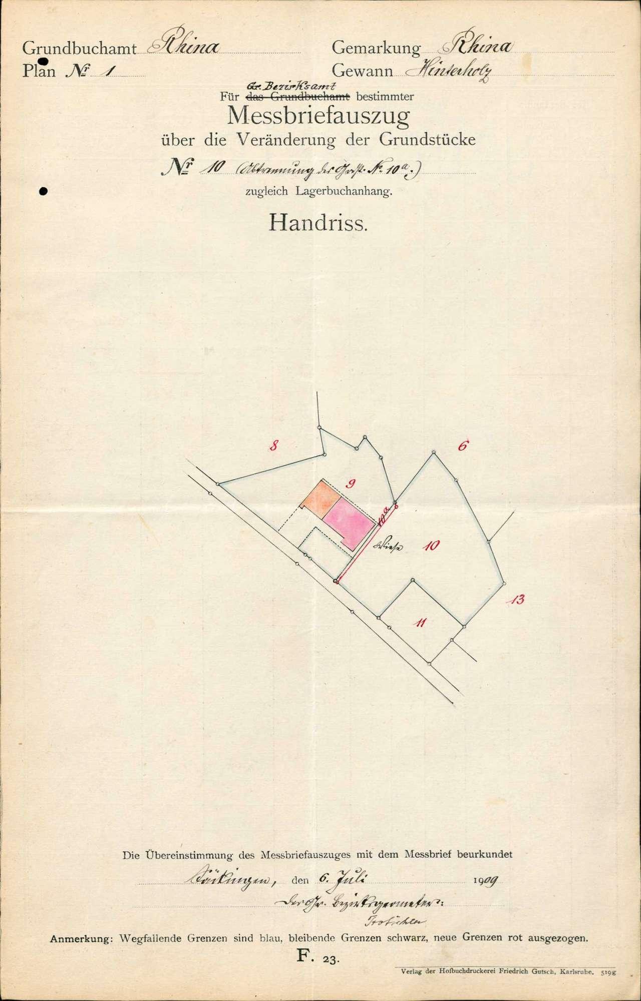 Teilung von Grundstücken auf Gemarkung Rhina unter dem gesetzlichen Maß, Bild 2
