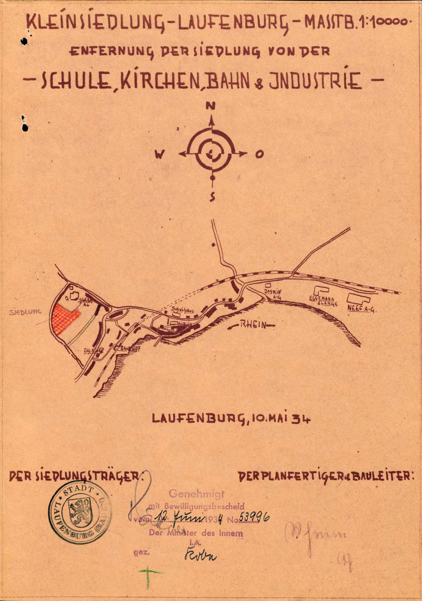Errichtung einer vorstädtischen Kleinsiedlung durch die Stadt Laufenburg (Baden), Bild 1