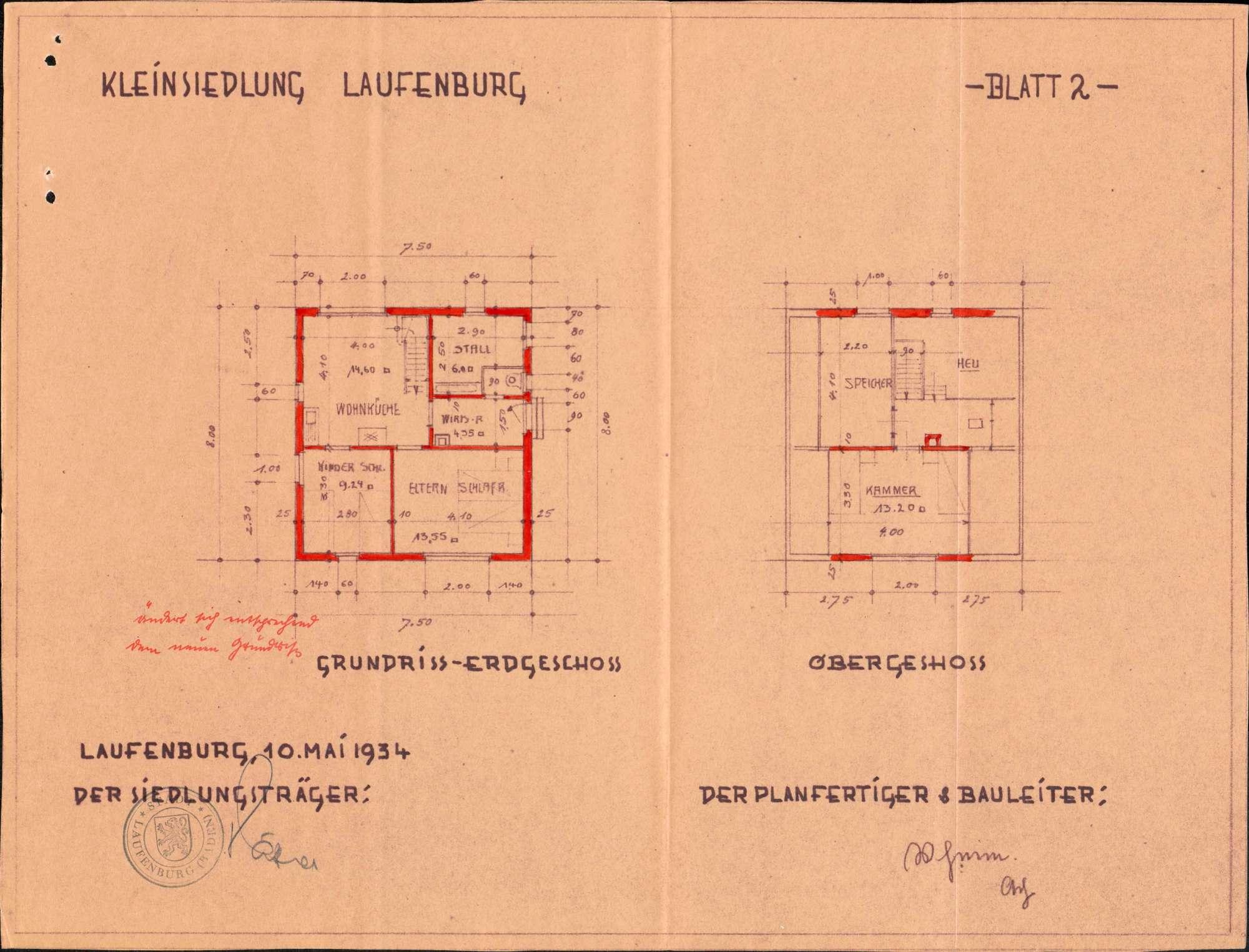 Errichtung einer vorstädtischen Kleinsiedlung durch die Stadt Laufenburg (Baden), Bild 3