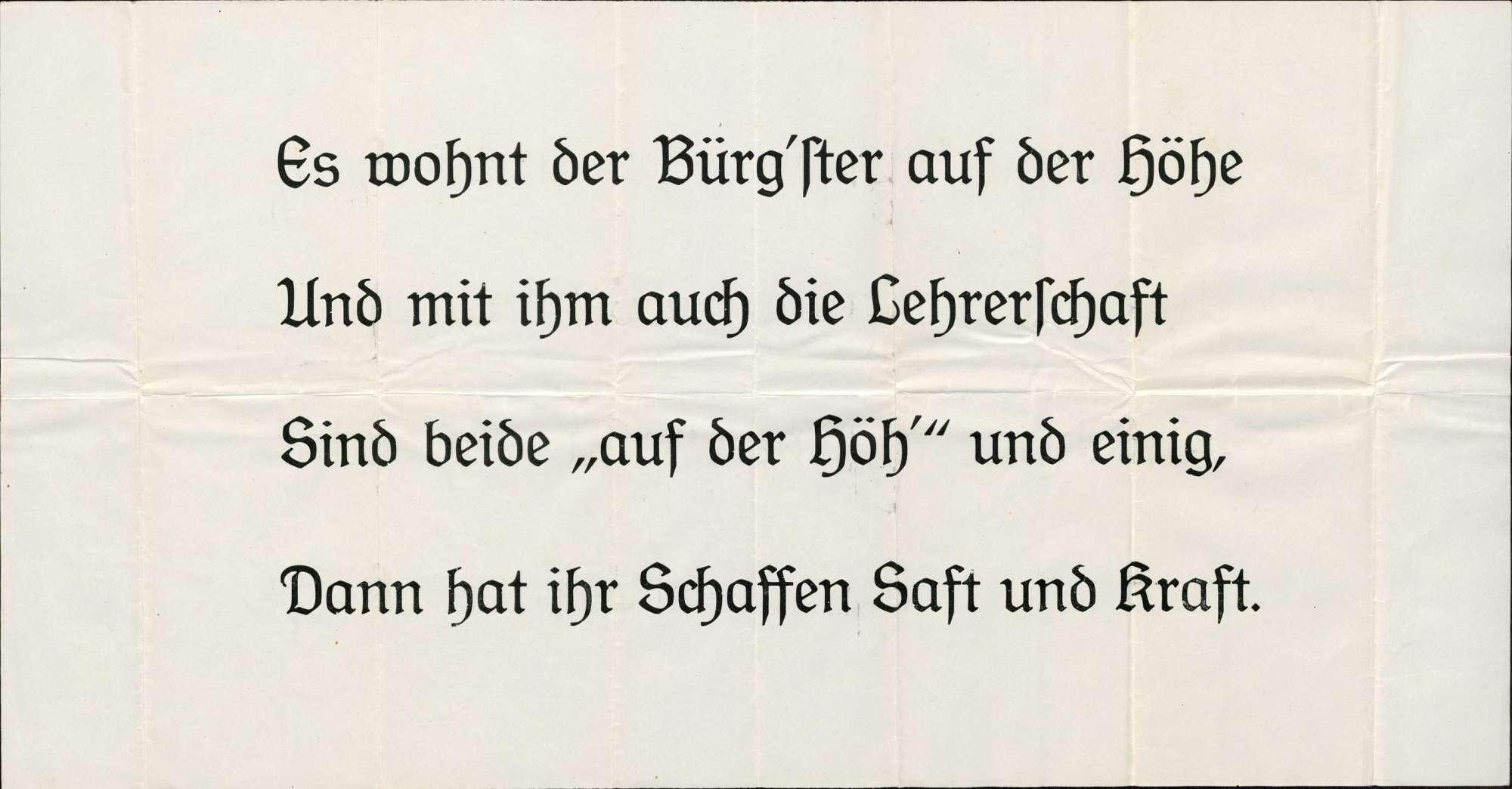 Plakate, Arbeitszeugnisse und Briefe in Bezug auf das Dienststrafverfahren gegen Eduard Zimmermann, Bürgermeister der Gemeinde Rhina, Bild 1