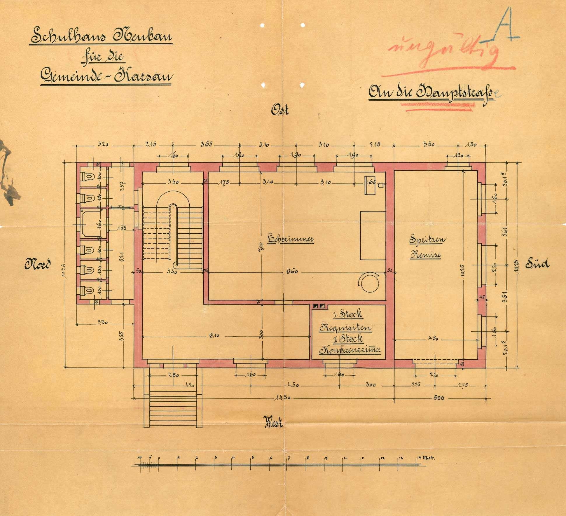 Neubau eines Schulhauses in Karsau, Bild 1