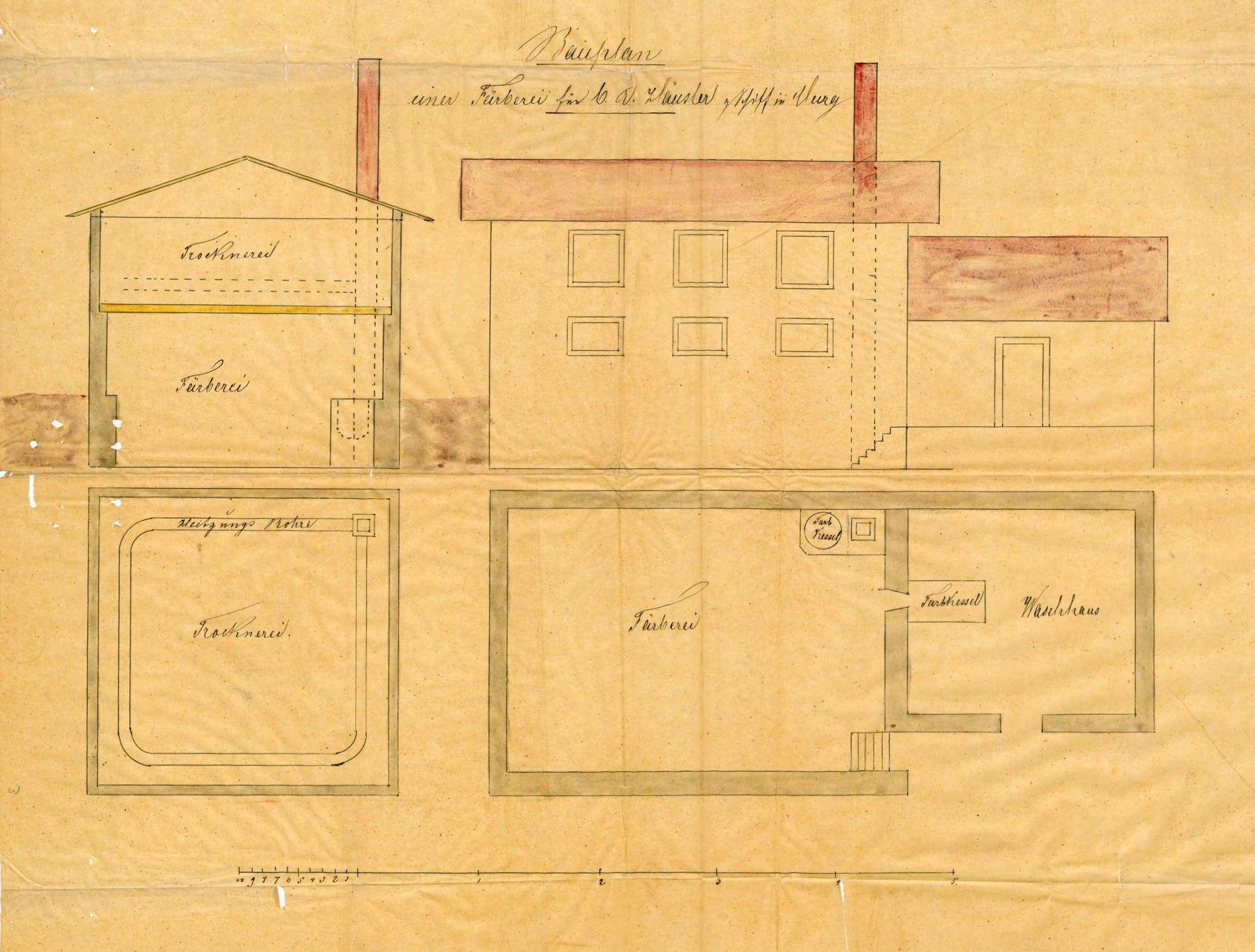 Gesuch des Schiffwirts August Häusler in Murg im Erlaubnis zur Errichtung einer Bleiche und Färberei, Bild 1