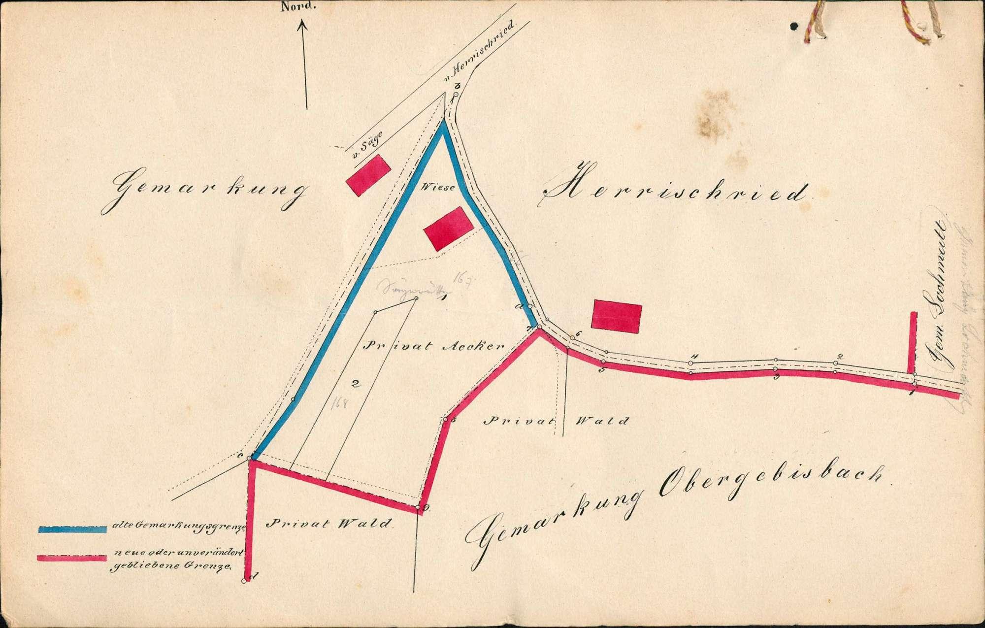 Verlegung der Gemarkungsgrenzen zwischen den Gemeinden Herrischried und Obergebisbach, Bild 1