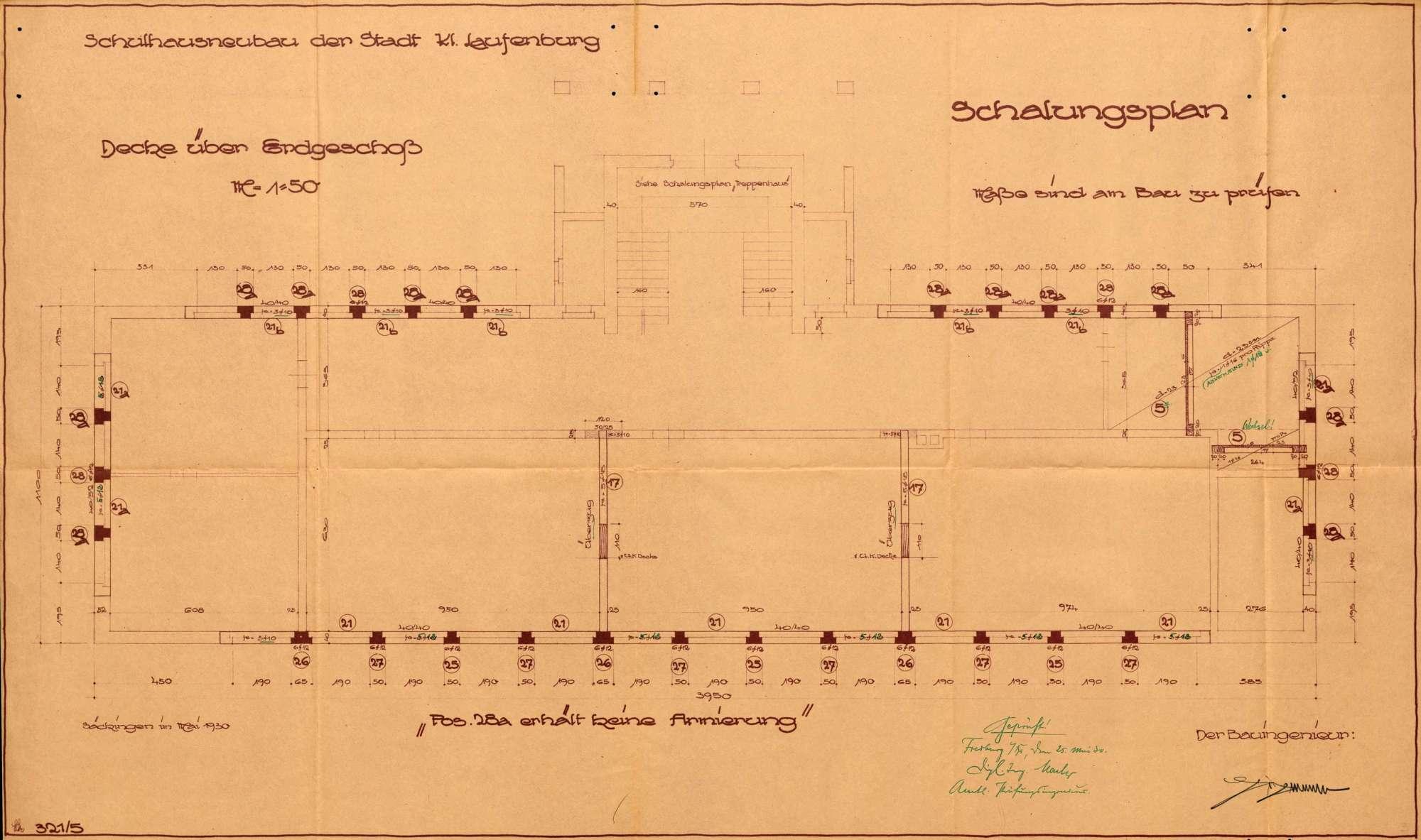 Neubau und bauliche Unterhaltung des Schulhauses in Kleinlaufenburg bzw. Laufenburg (Baden), Bild 2