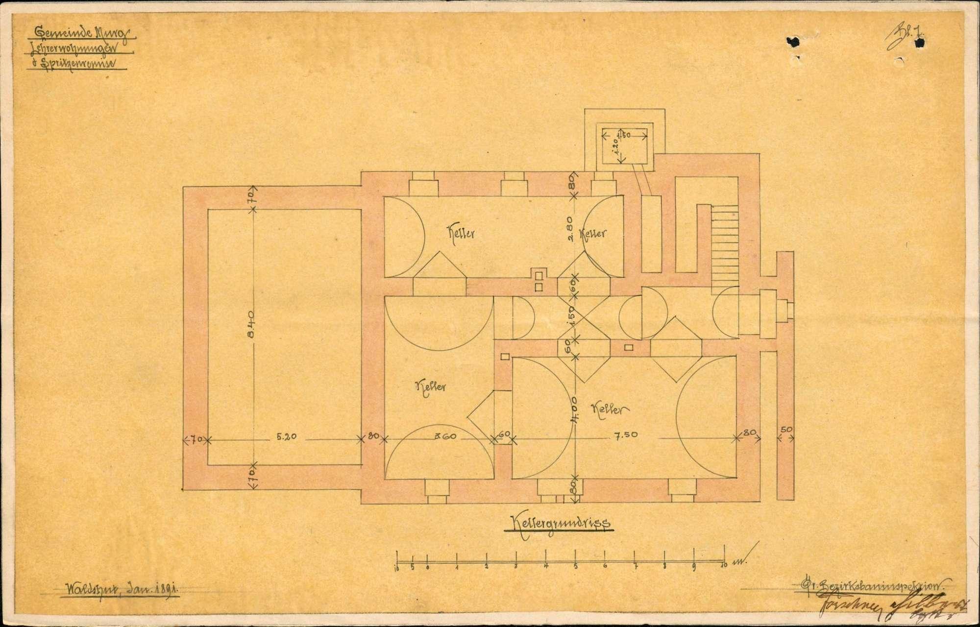 Bau, Unterhaltung und Umbau des Schulhauses in Murg, Bild 3